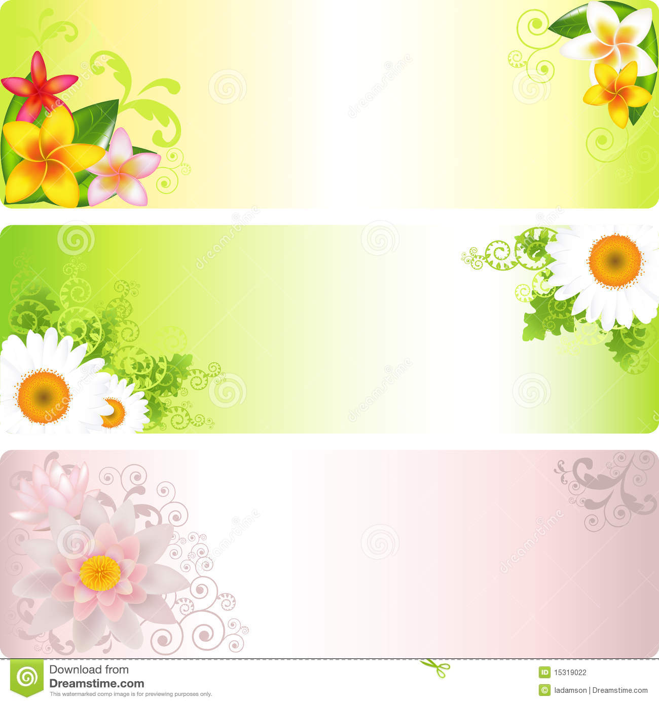 Flower Banner. Vector Stock Photography - Image: 15319022