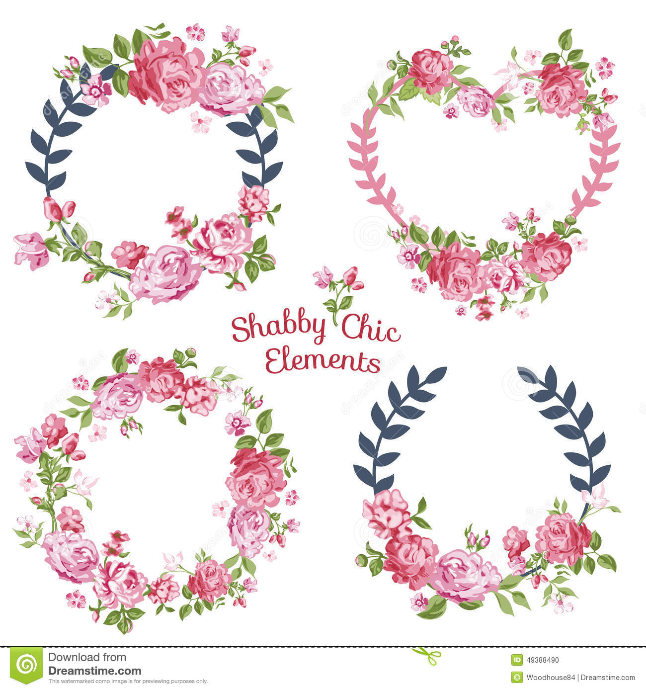flower banners tags your design scrapbook vector 49388490