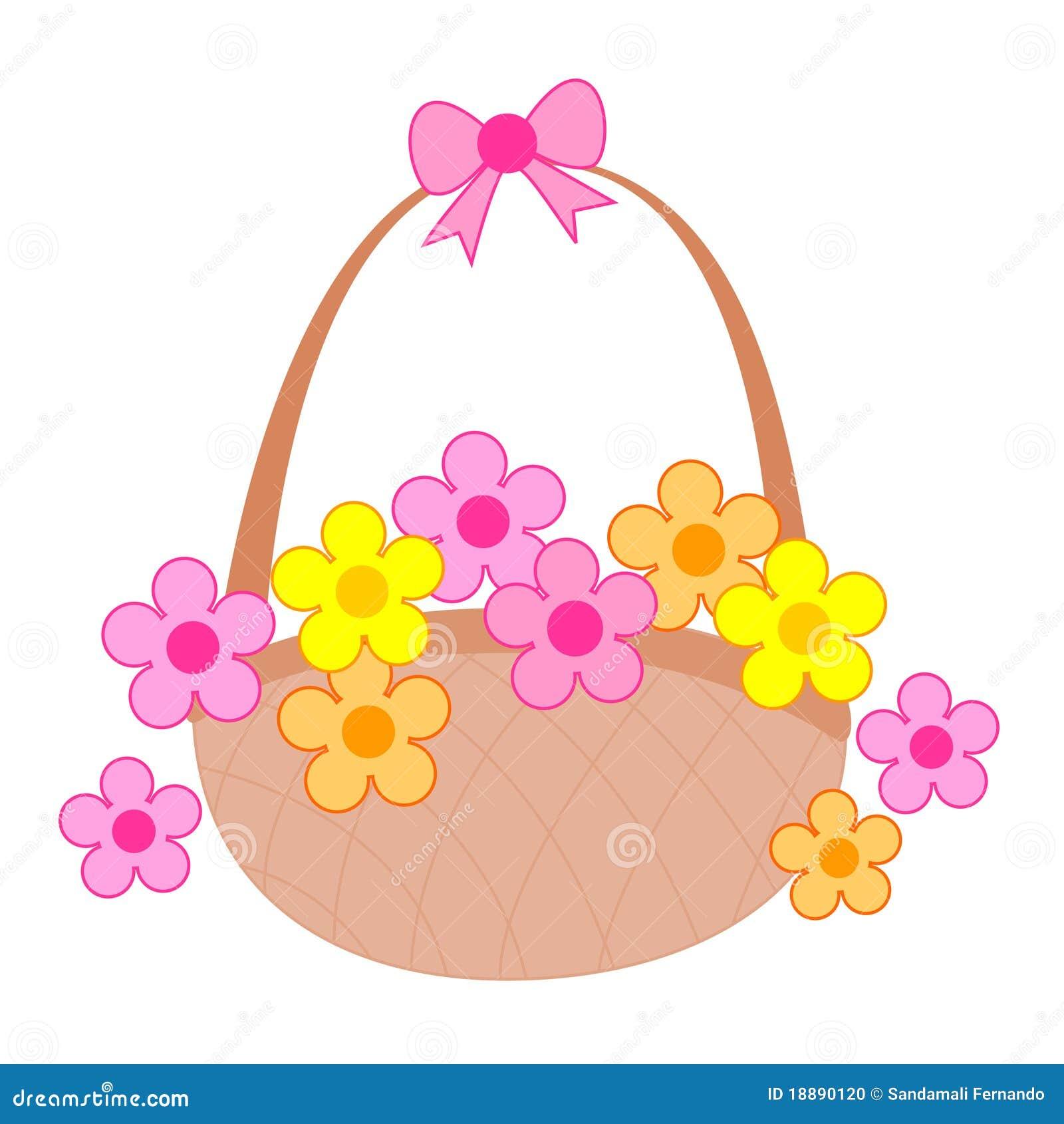 Flower Baskets Vector : Flower basket stock vector image of gift