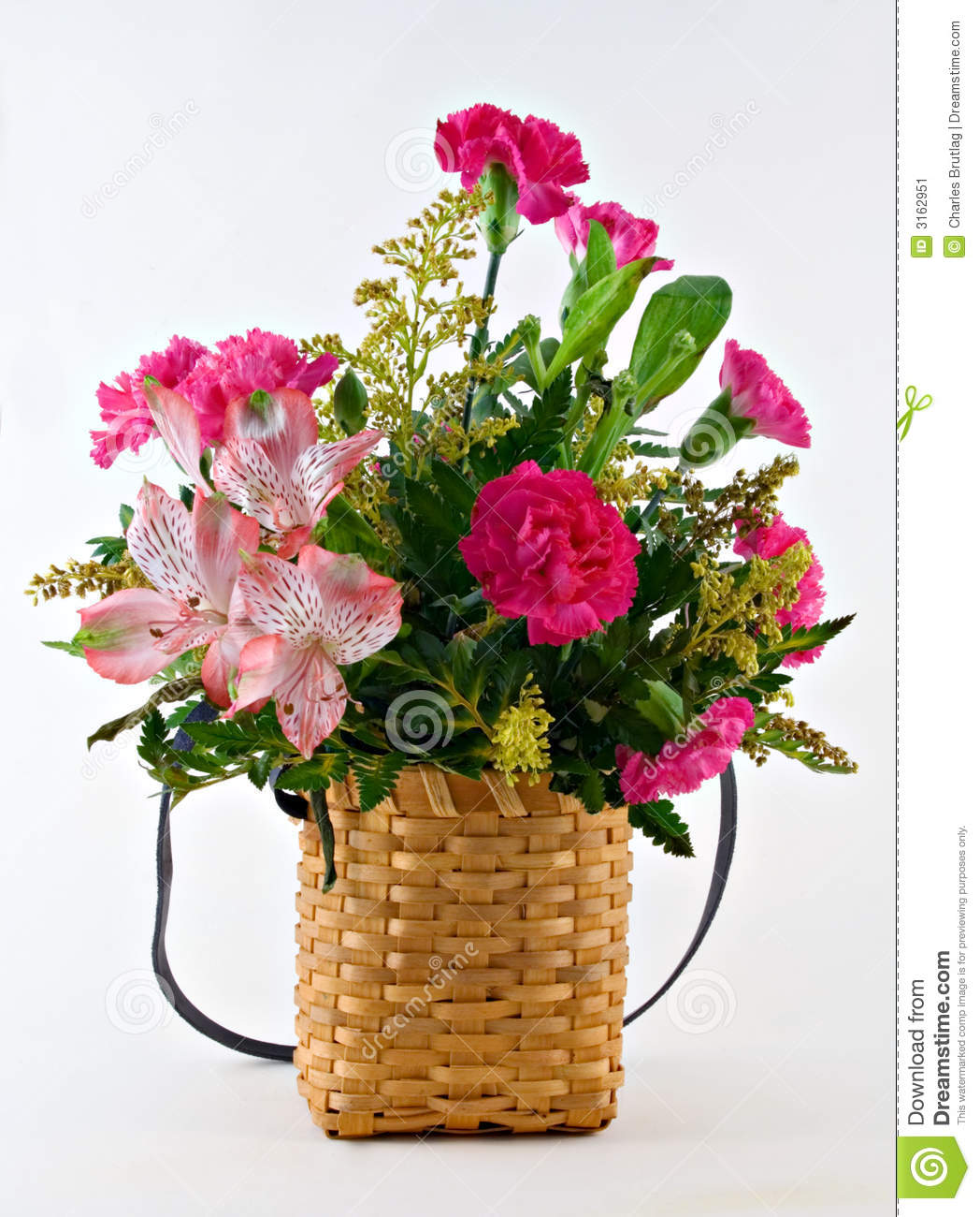 Flower Baskets Photos : Flower basket stock image