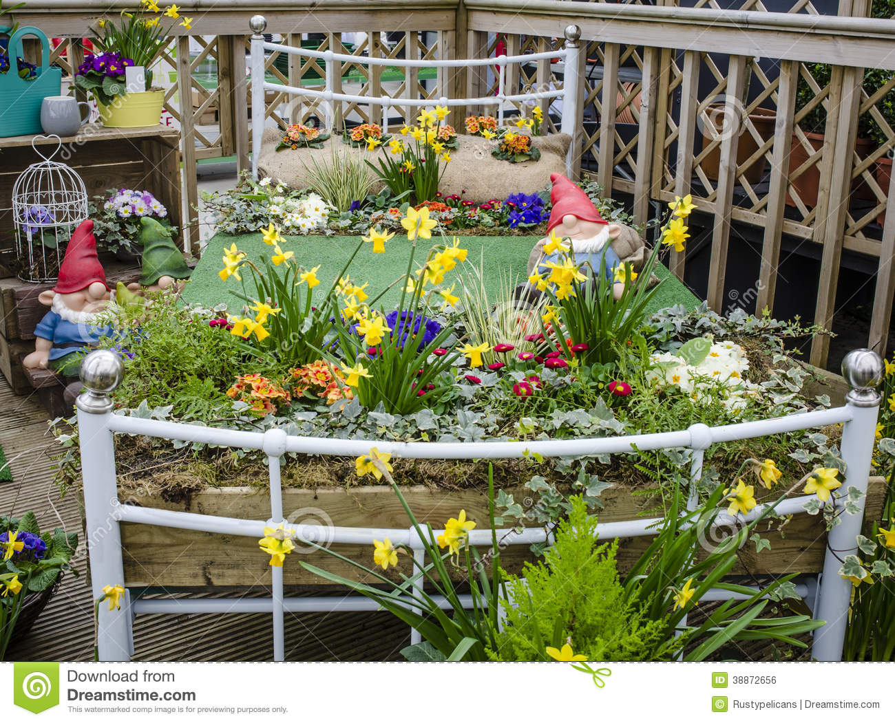 Flower Bed Stock Photo Image 38872656