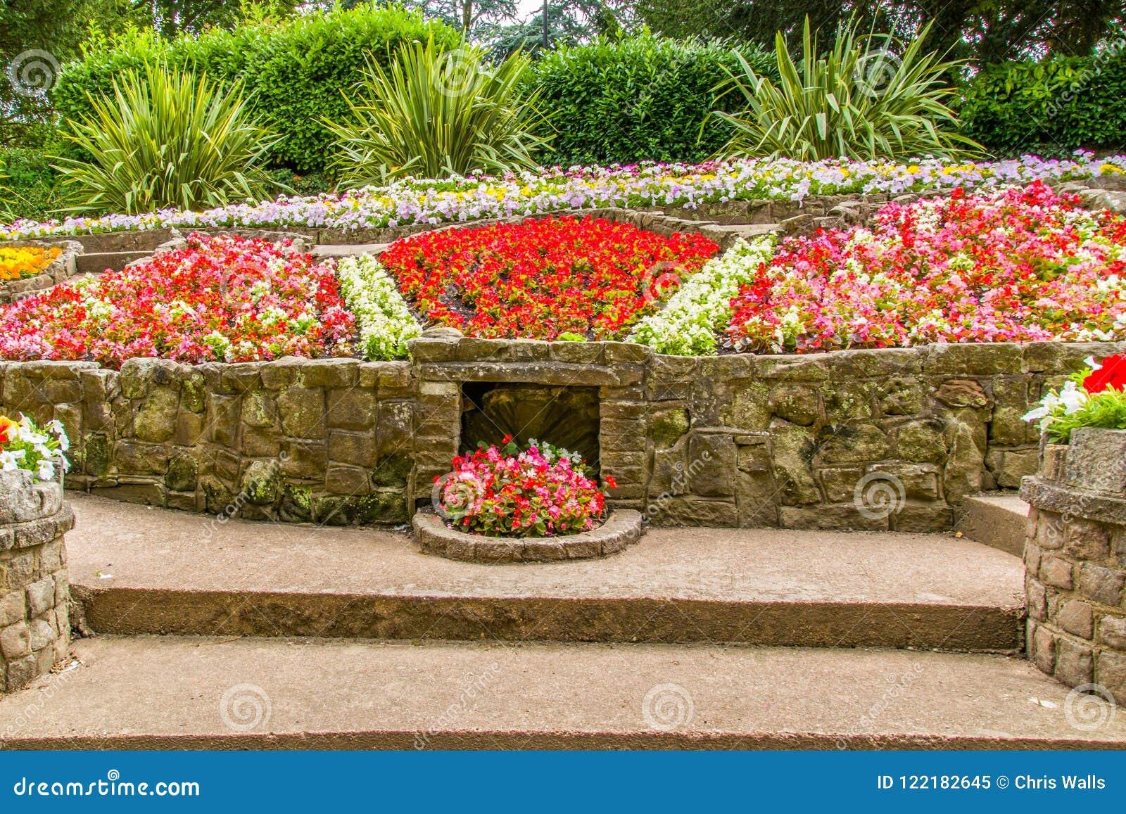 Flower Beds And Pathways Around Stapenhill Gardens Staffordshire ...
