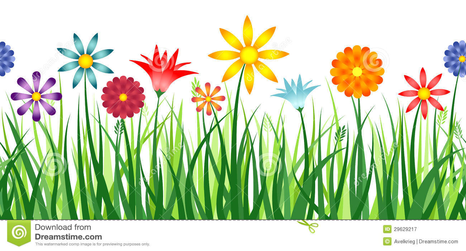 flower border stock vector illustration of outside environment