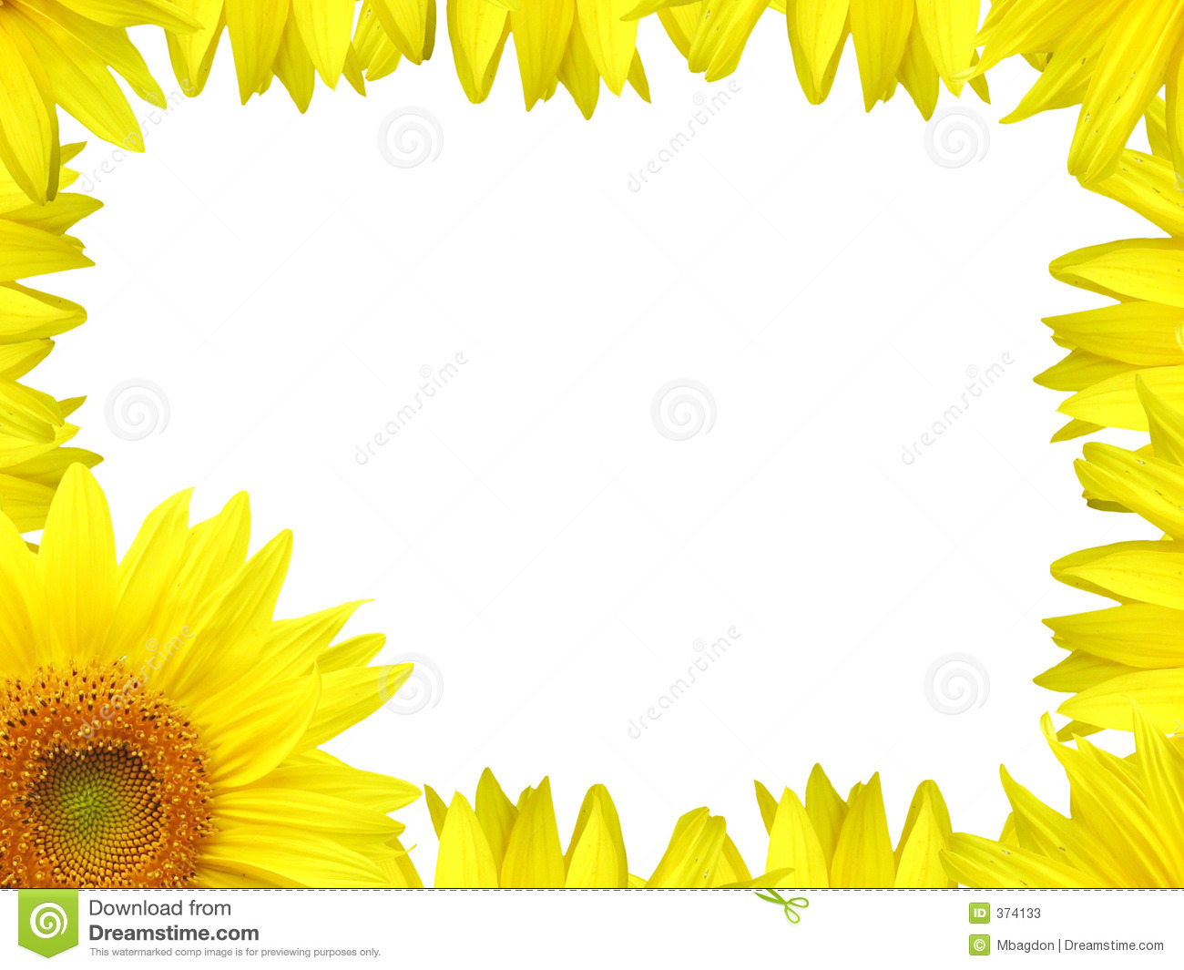 Stock Photos: Flower border