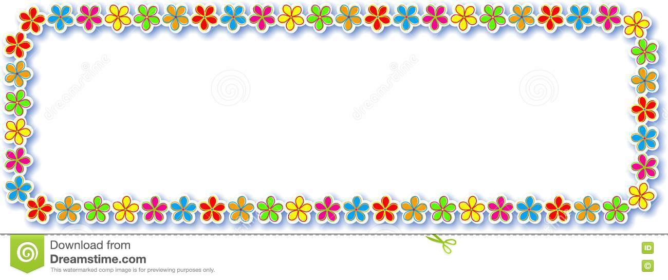 flower border design stock illustration illustration of