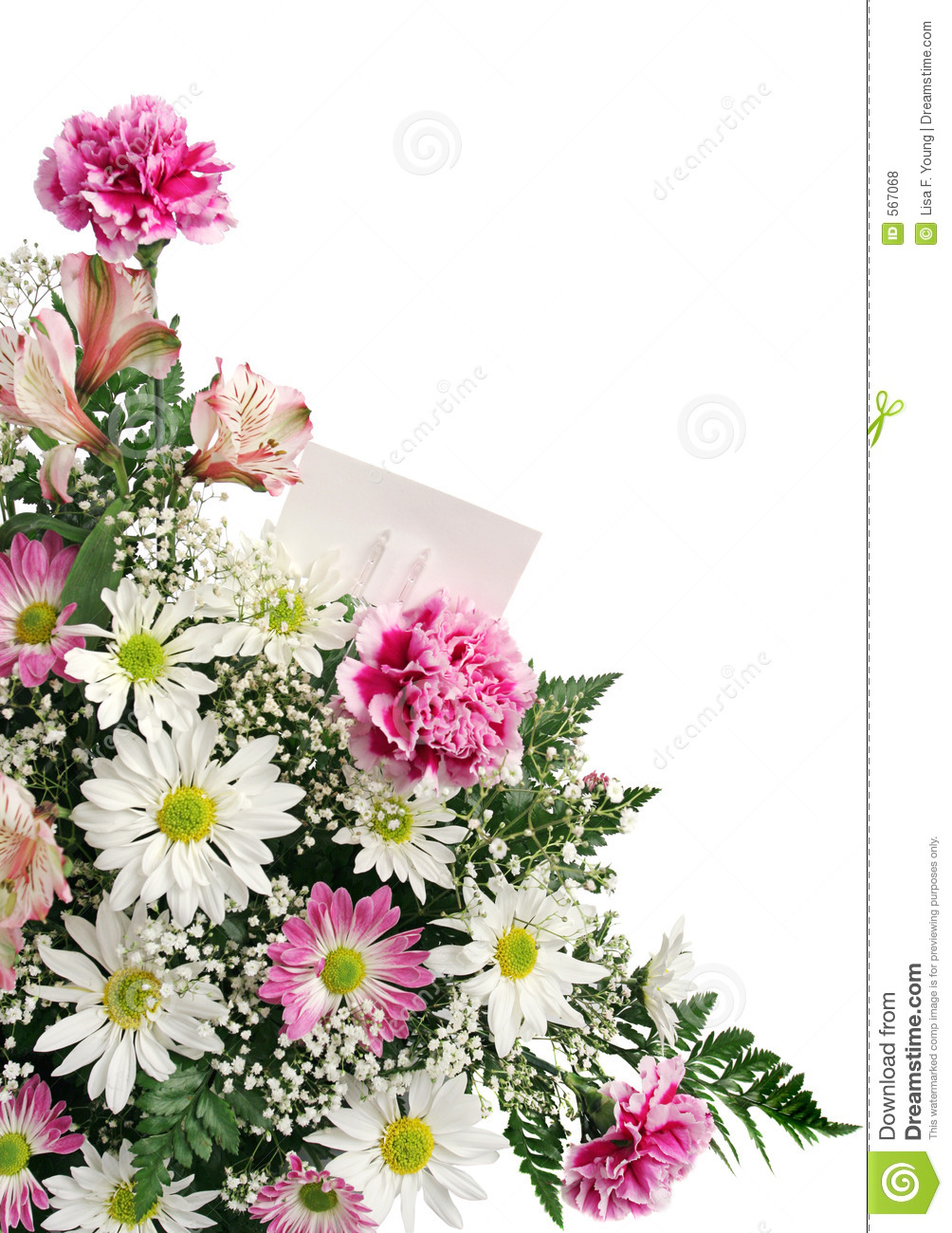 Flower Border Gift Card Royalty Free Stock Photos - Image: 567068