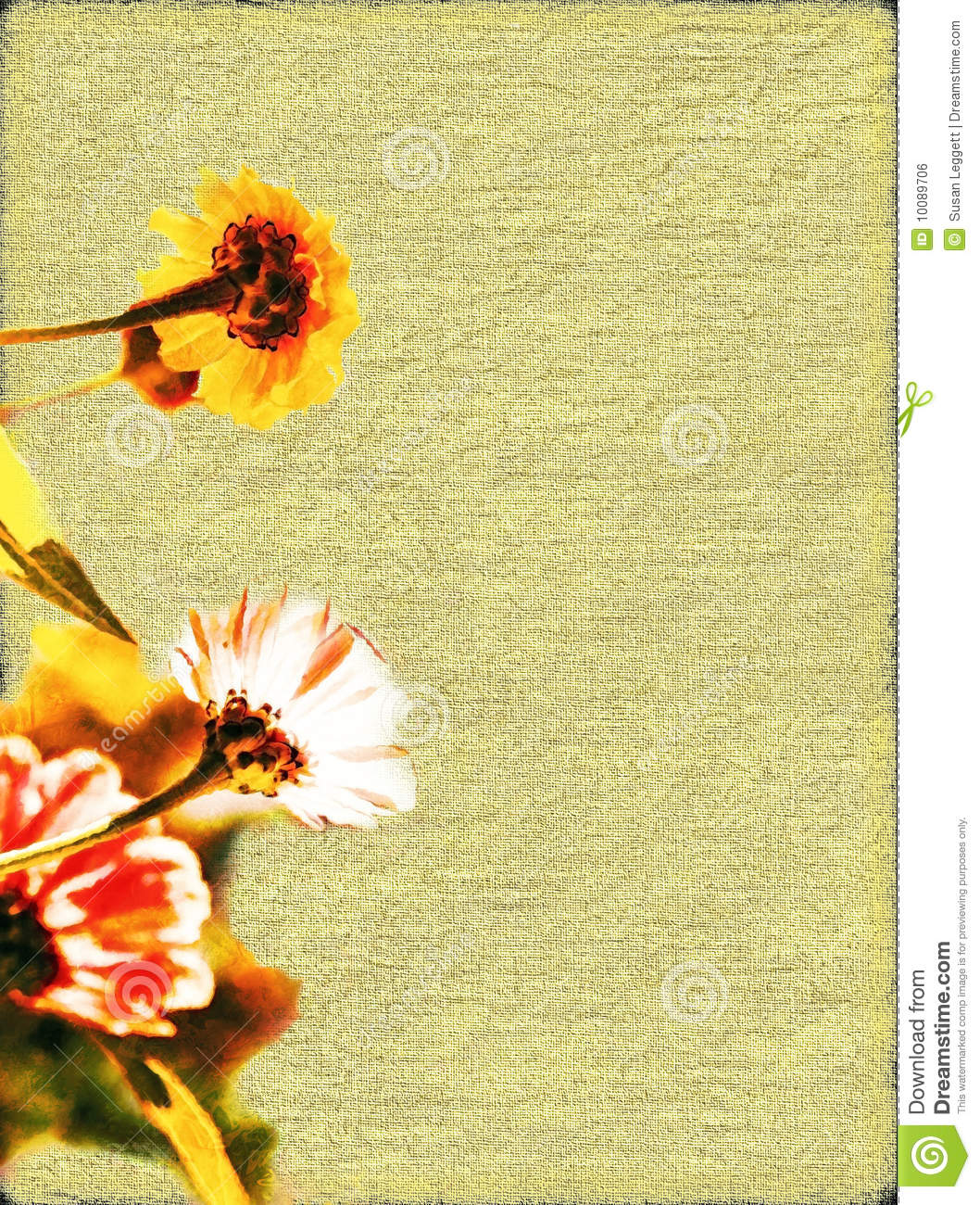 Flower border paper stock illustration illustration of paper flower border paper mightylinksfo
