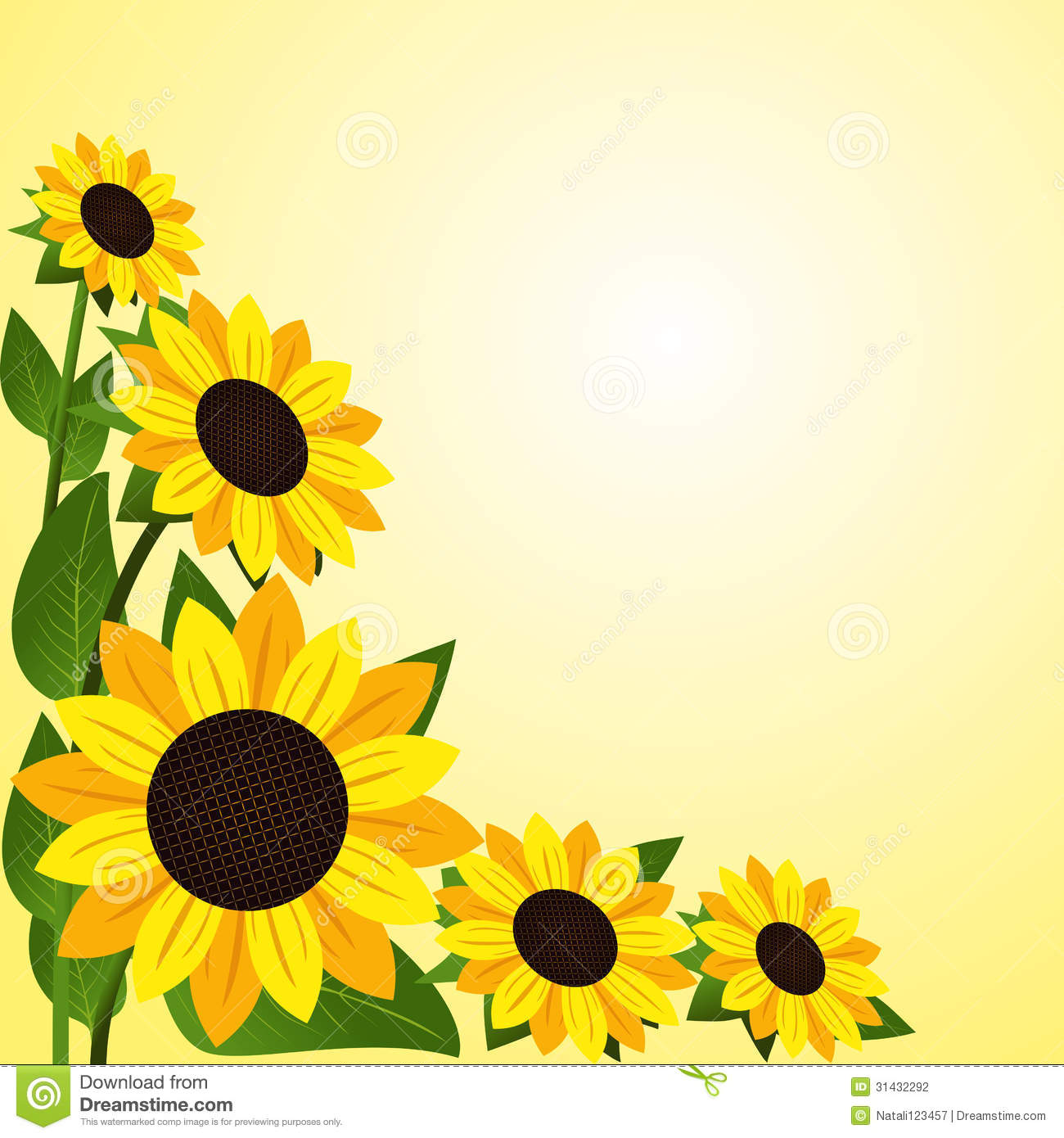 clip art borders sunflowers - photo #19