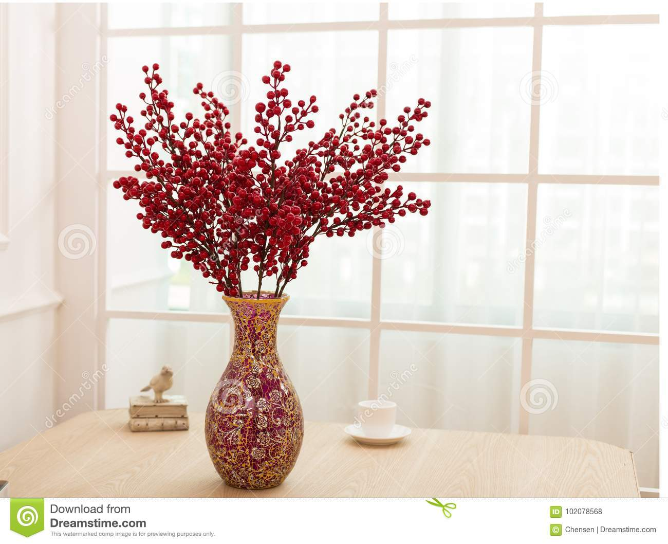 Flower Arrangement On Table Office Desk Stock Photo Image Of Bouquets Interior 102078568