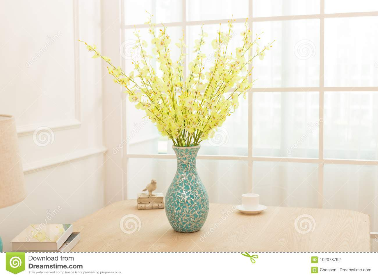 Flower Arrangement On Table Office Desk Stock Photo Image Of Florists Decoration 102078792