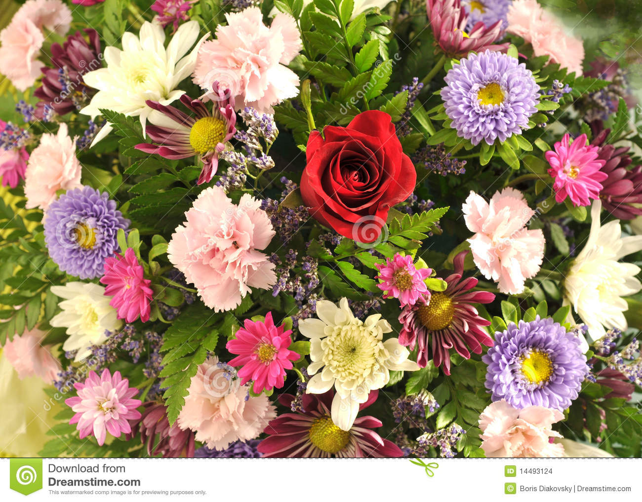 A flower bouquet stock images image 14493124 for A lot of different flowers make a bouquet