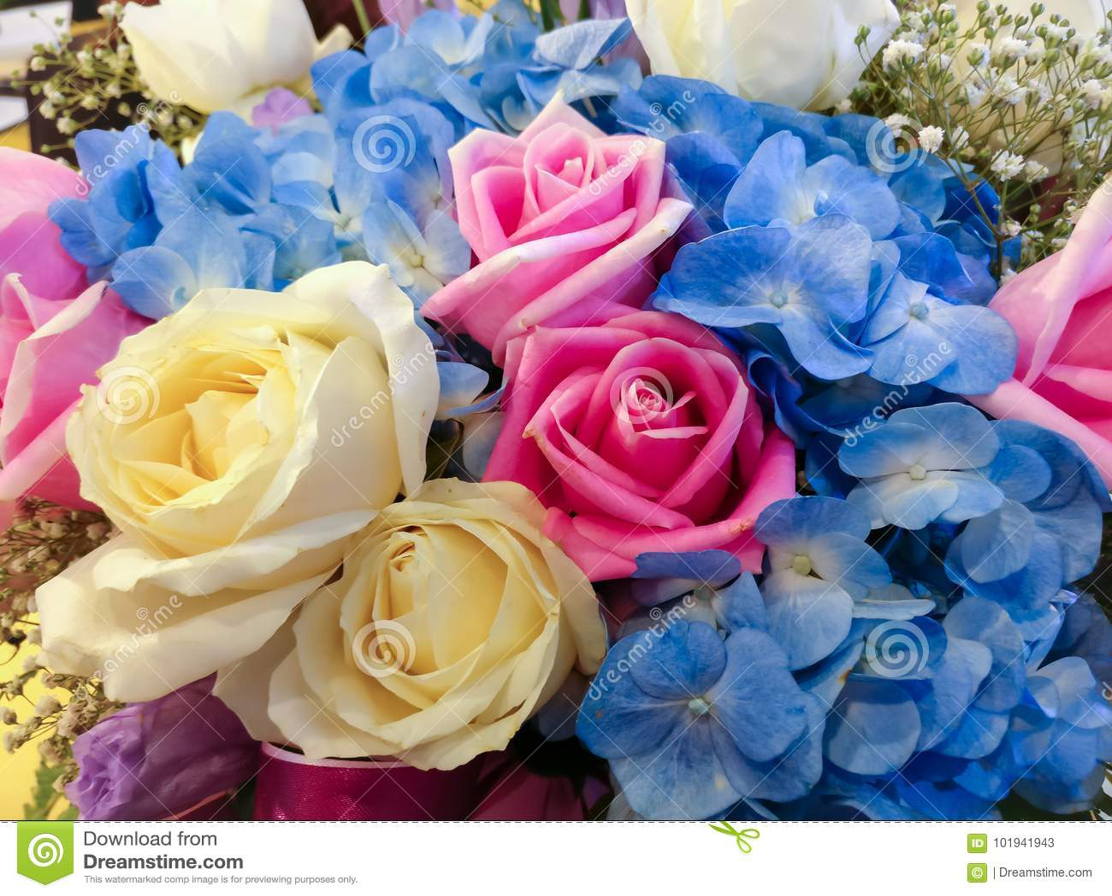 Flower Bouquet Stock Image Image Of Fresh Floral Closeup 101941943