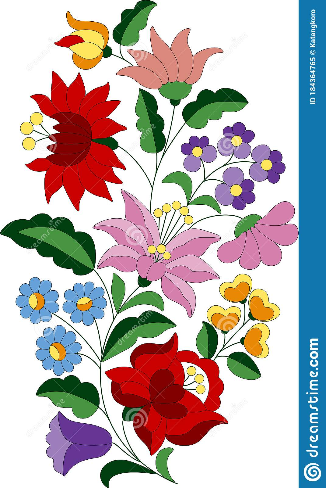 Flower Bouquet Embroidery Pattern 20 Stock Vector   Illustration of ...