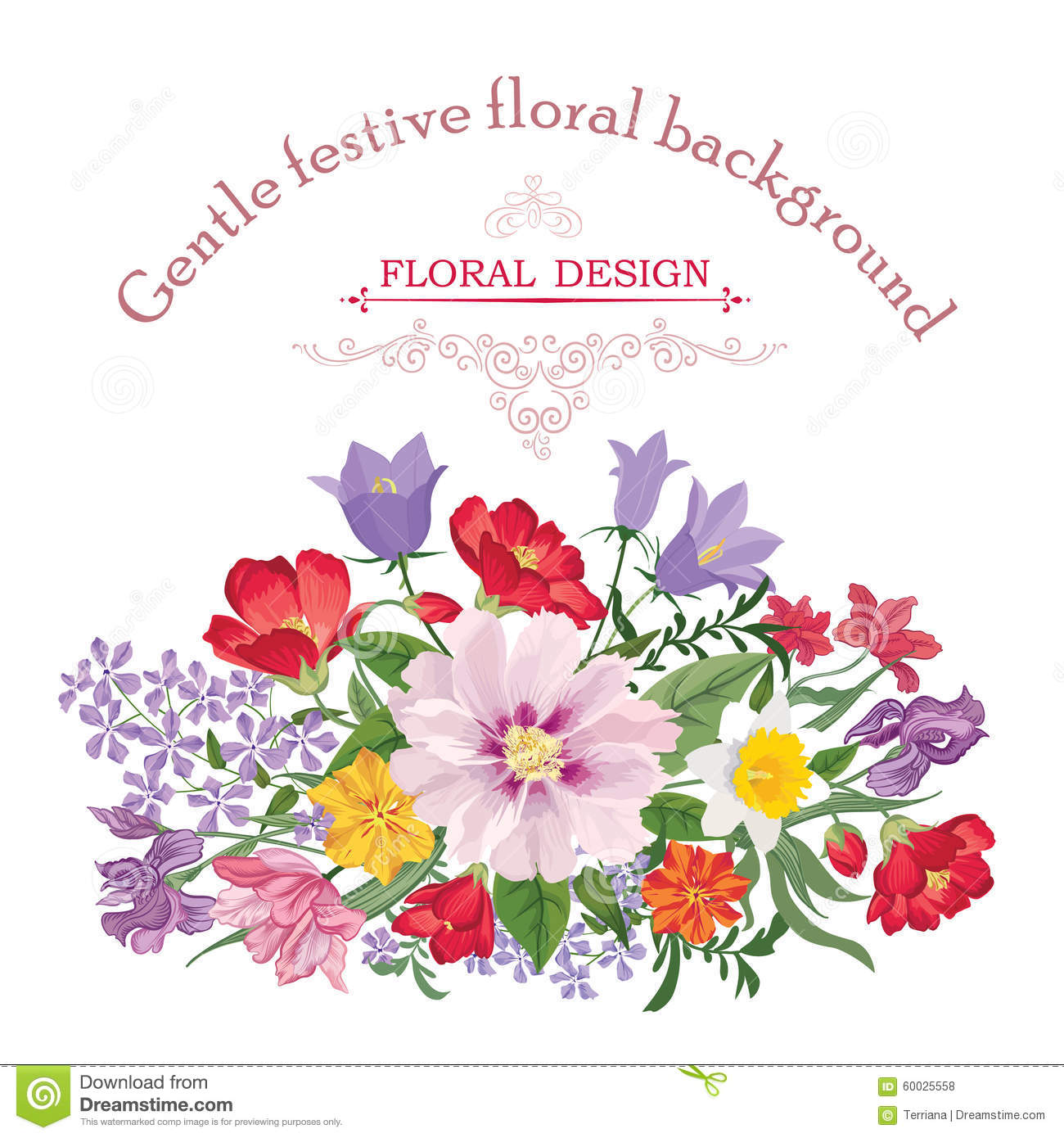 Flower bouquet floral frame flourish greeting card blooming posy download flower bouquet floral frame flourish greeting card blooming posy stock vector izmirmasajfo