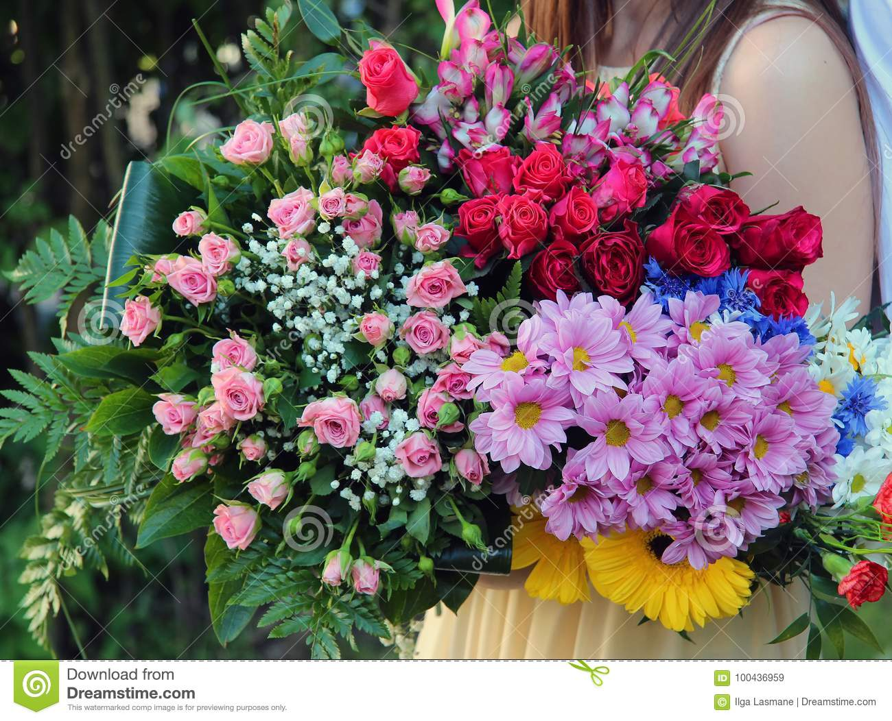 Floral Bouquet Of Different Flowers Stock Image Image Of Flowers