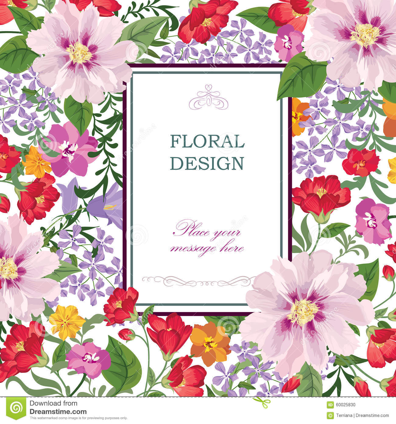 Flower Bouquet Pattern Floral Wallpaper Flourish Greeting Card