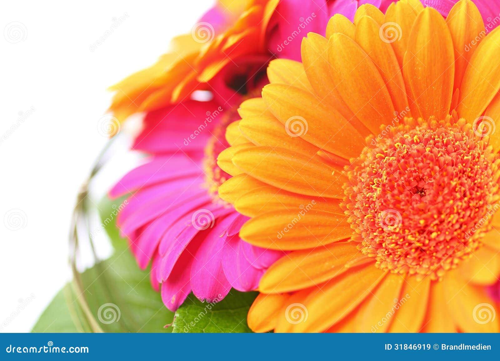 Flower bouquet in pink and orange