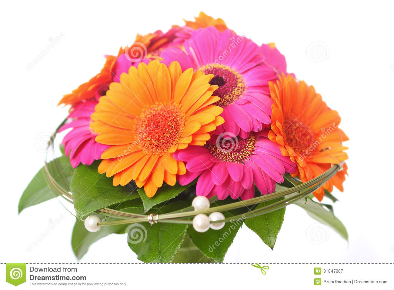 Flower Bouquet In Pink And Orange Stock Image Image Of Elegance