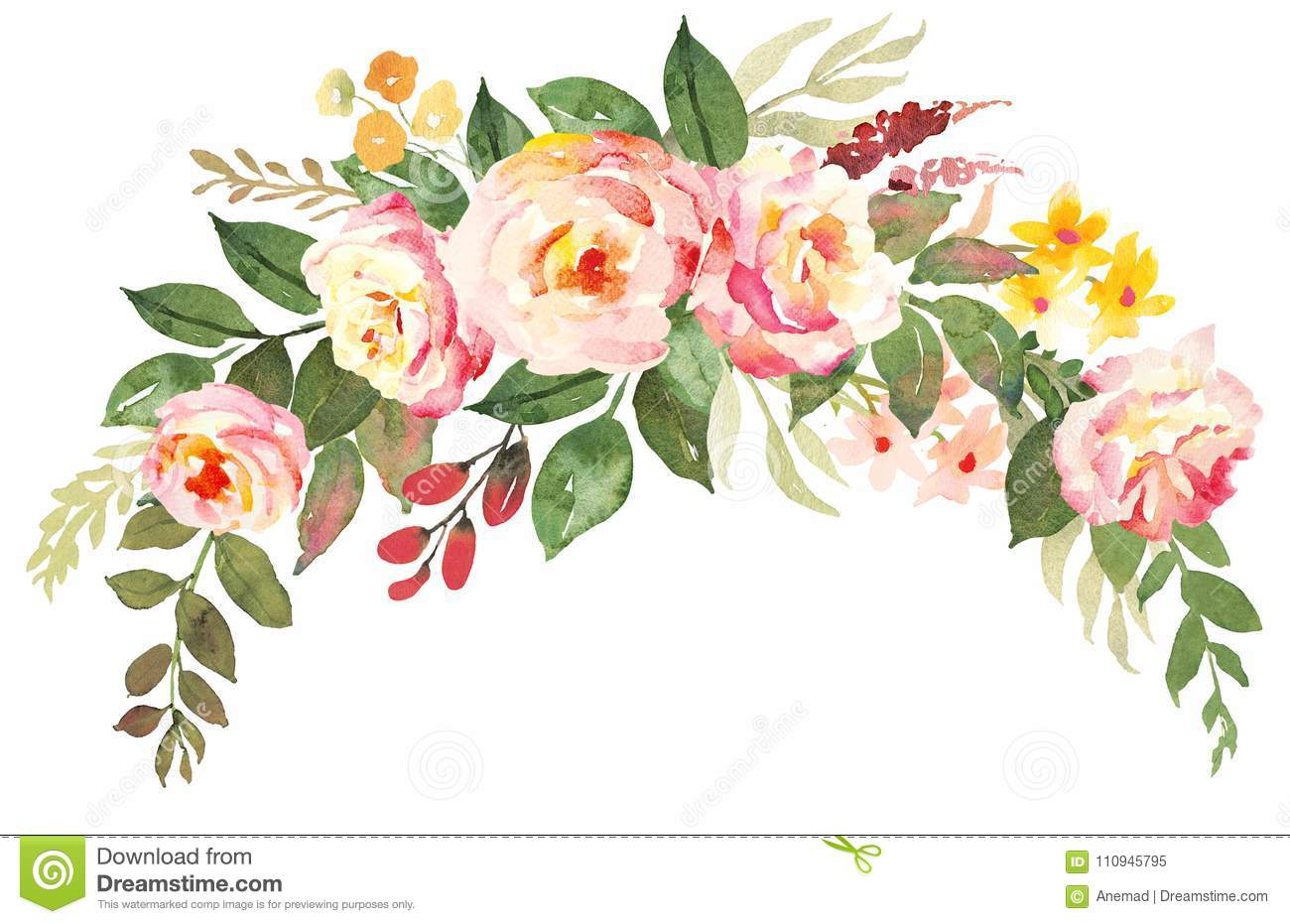 Flower bouquet with pink roses stock illustration illustration of download flower bouquet with pink roses stock illustration illustration of floral fresh izmirmasajfo
