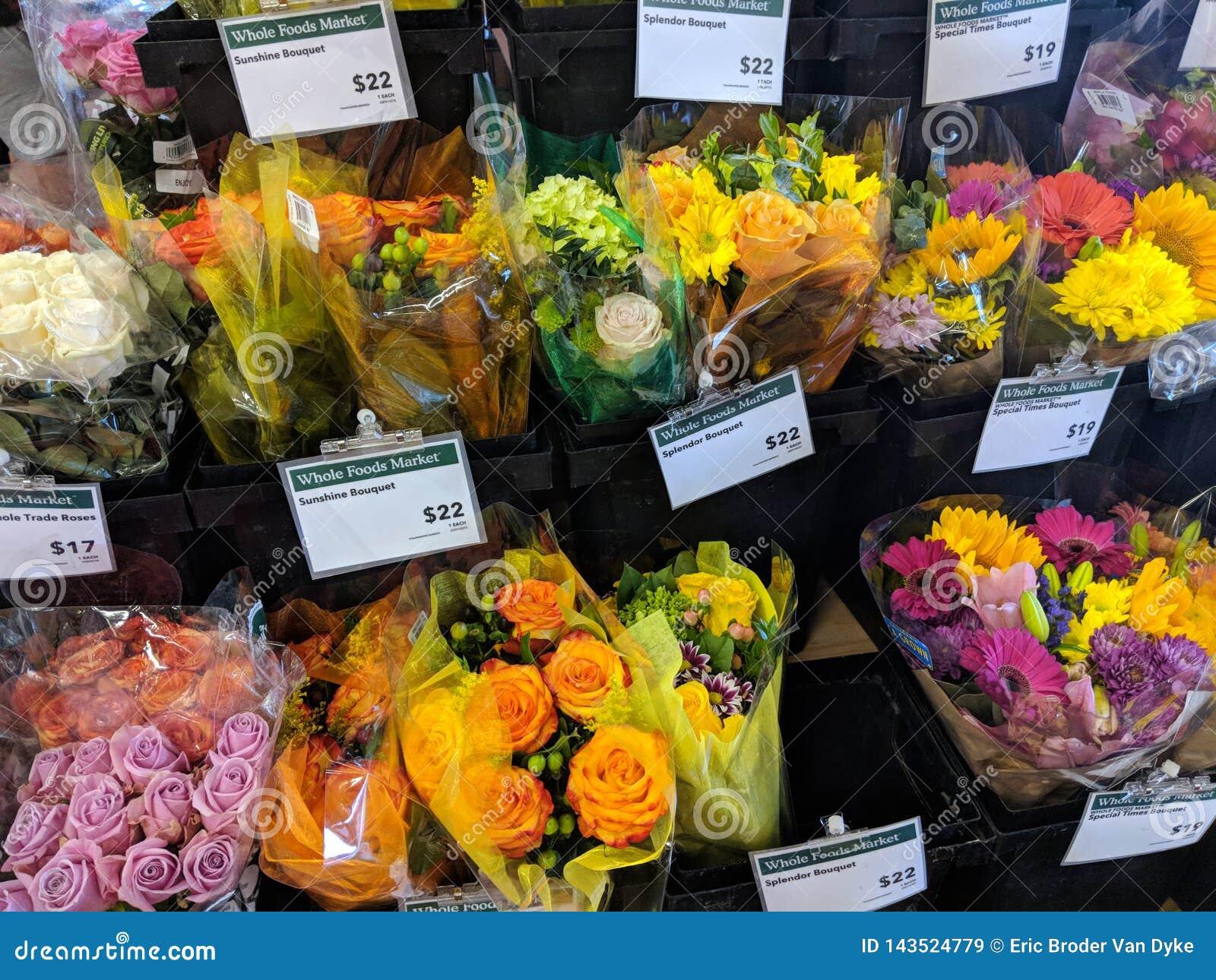 Flower Bouquet For Sale Inside Whole Foods Market Stock Image Image Of Date Eucalyptus 143524779