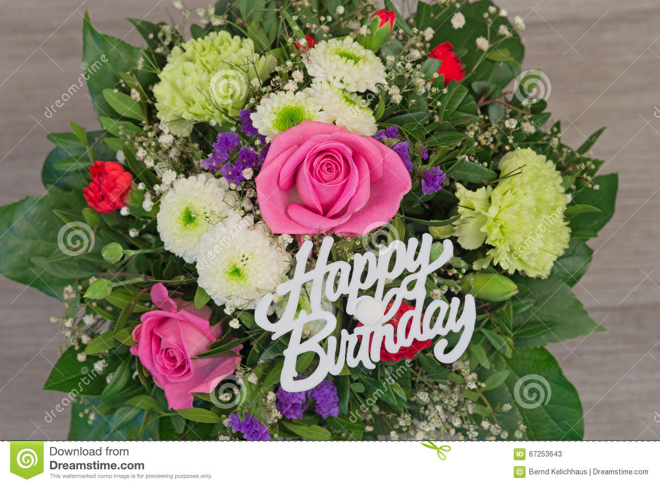 Flower bouquet with text happy birthday stock image image of bunch of colorful flowers flower bouquet with text happy birthday izmirmasajfo