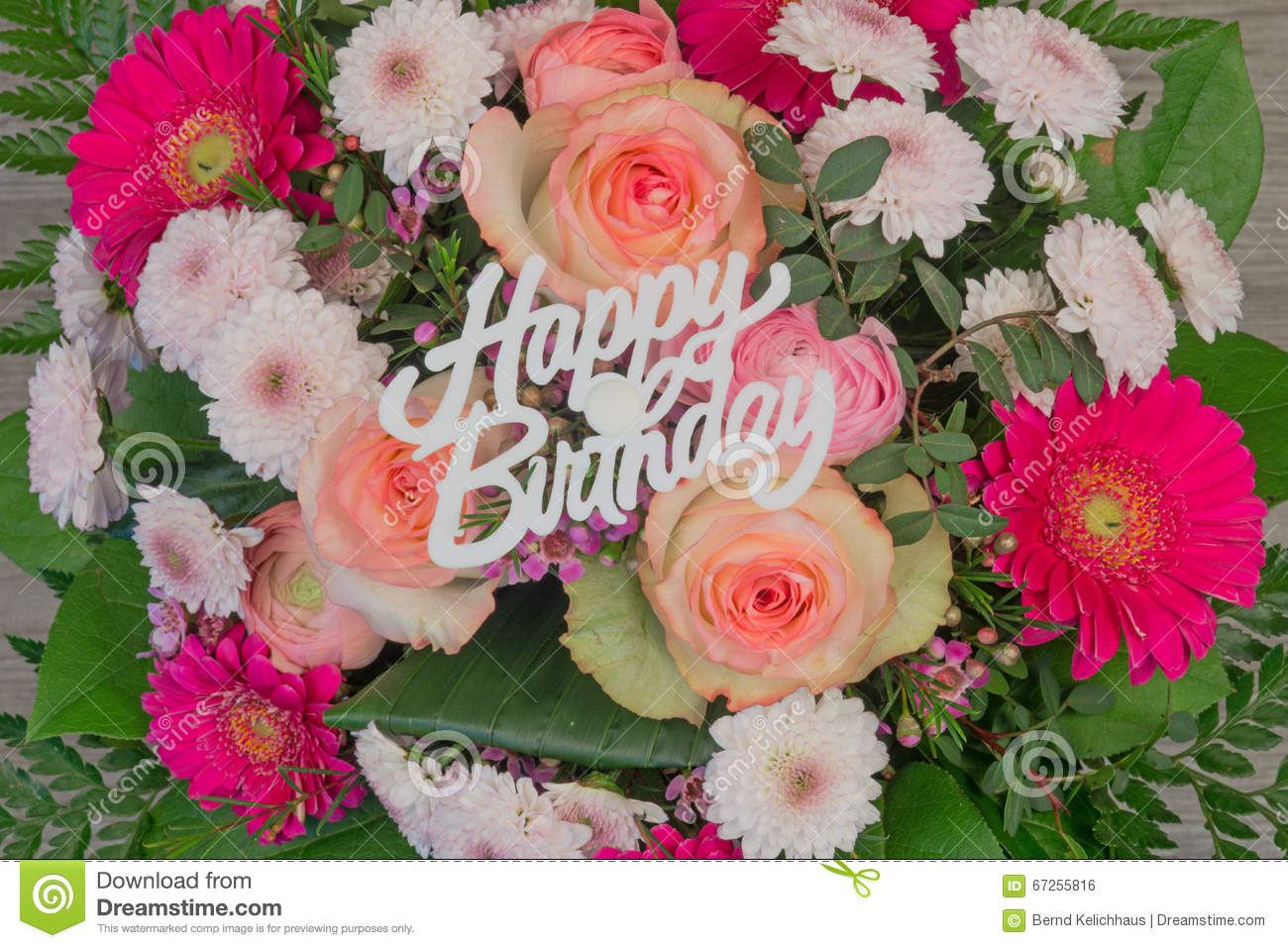 Flower bouquet with text happy birthday stock photo image of flower bouquet with text happy birthday celebration holiday izmirmasajfo Image collections