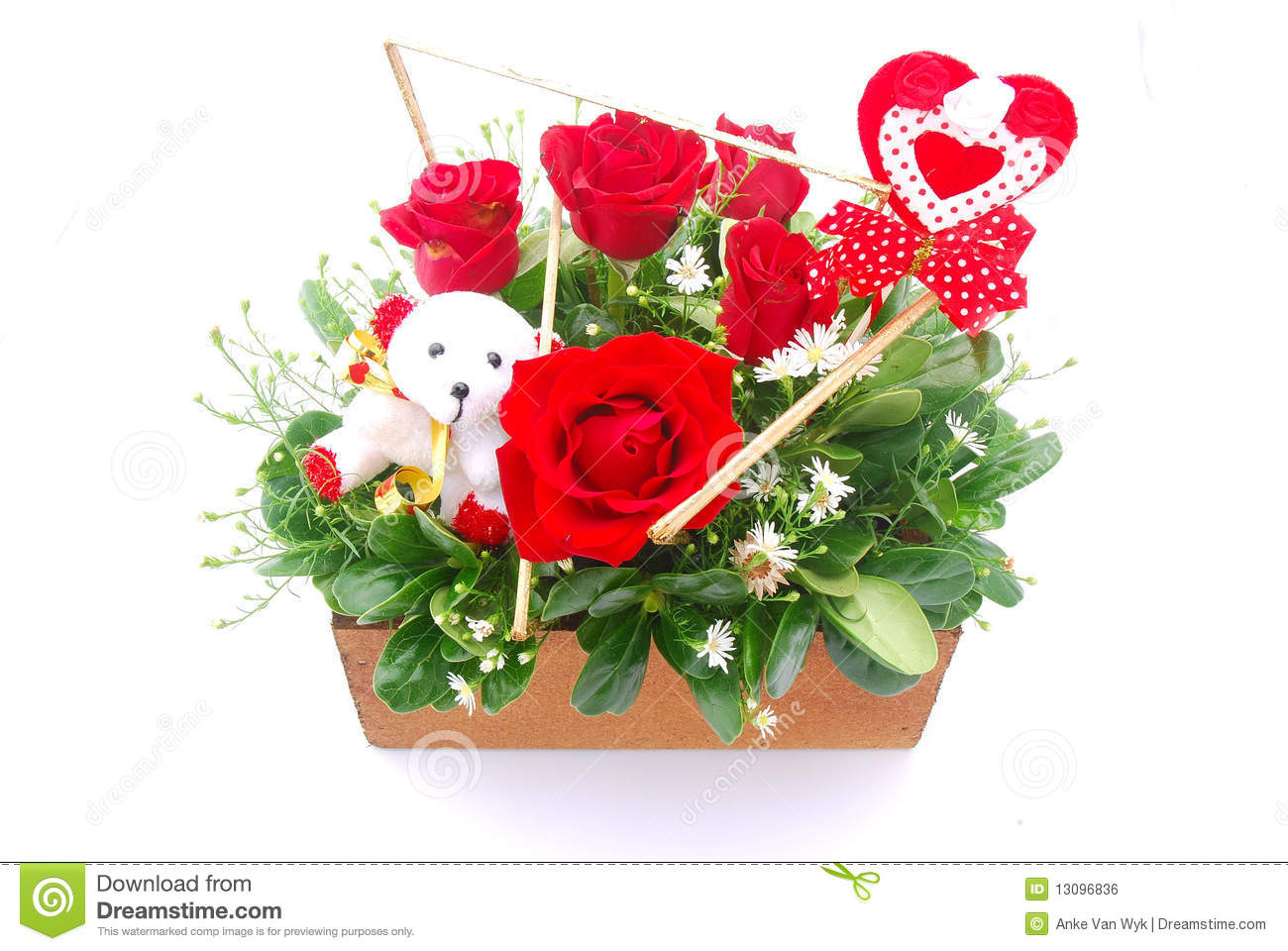 flower bouquet for valentine u0027s day royalty free stock image