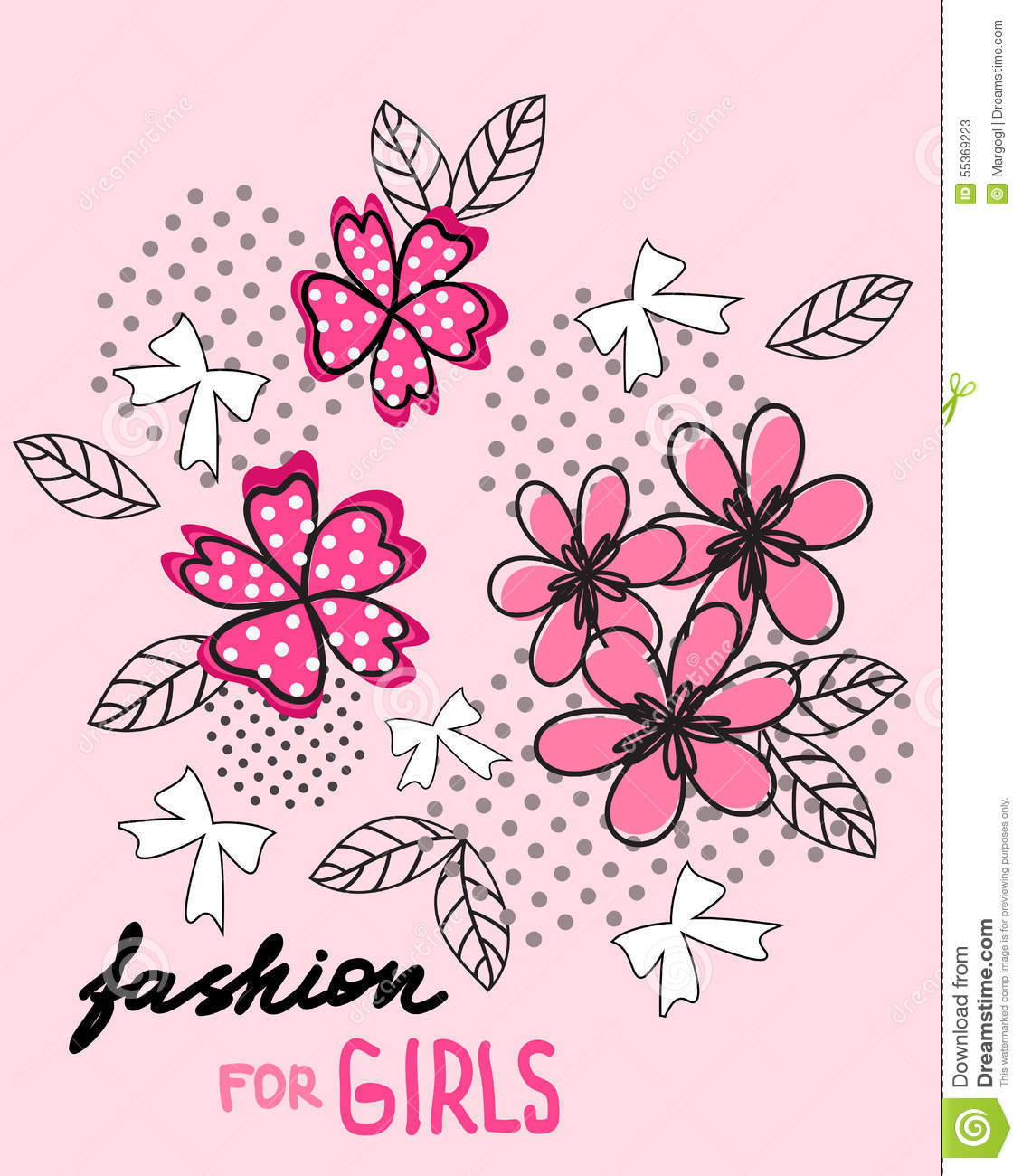 Design t shirt girl - Flower And Bow T Shirt Design Fashion For Girls