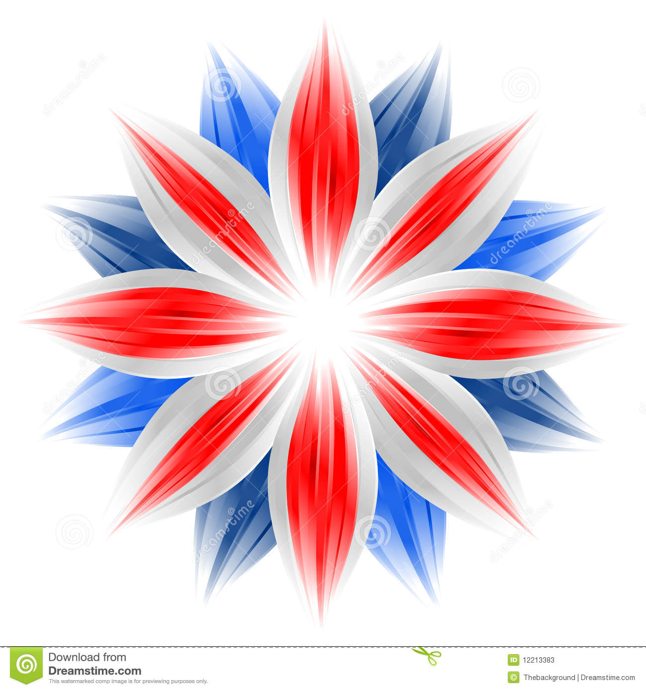 flower with british flag colors stock photos image 12213383