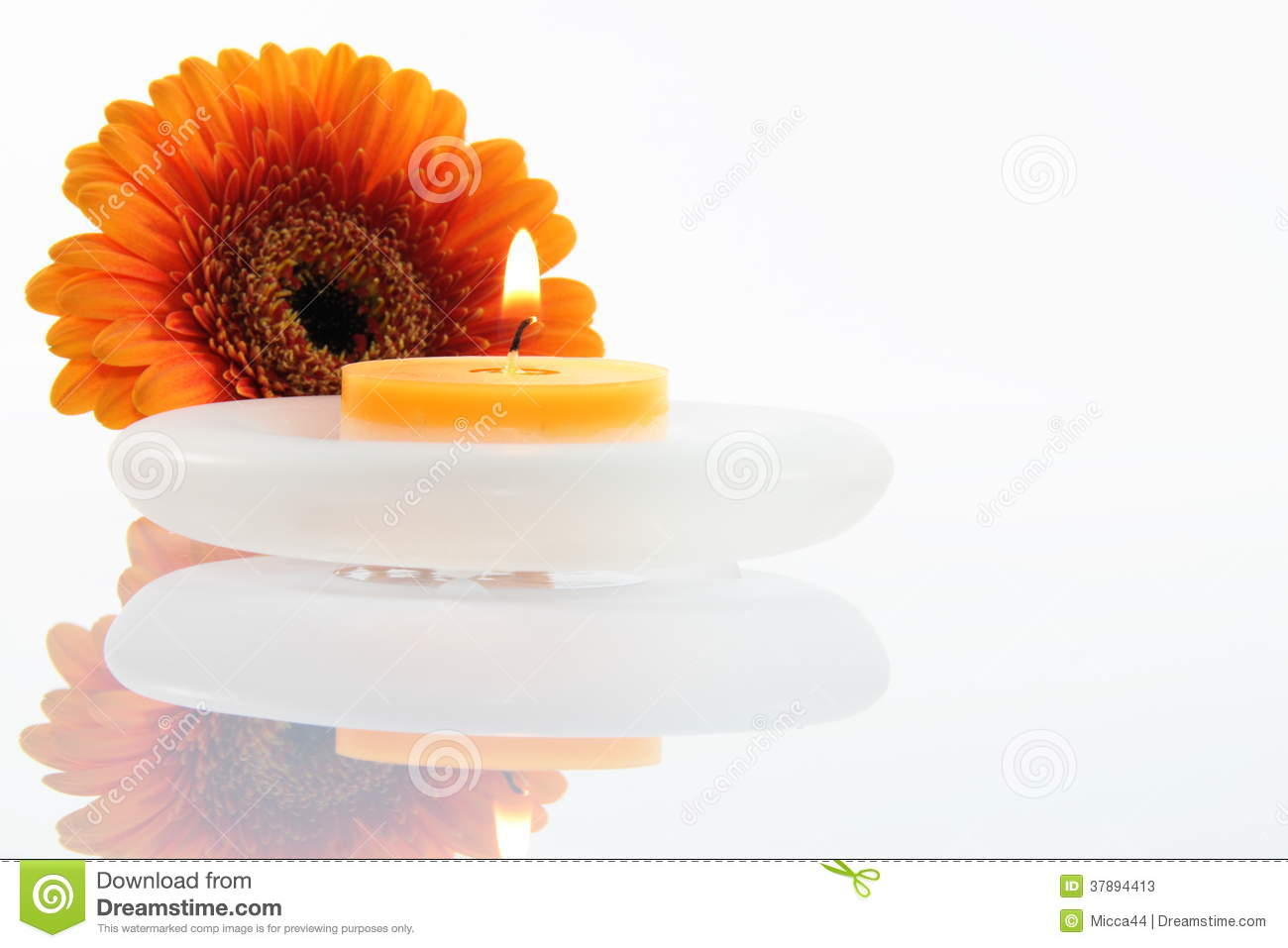 Flower with candle