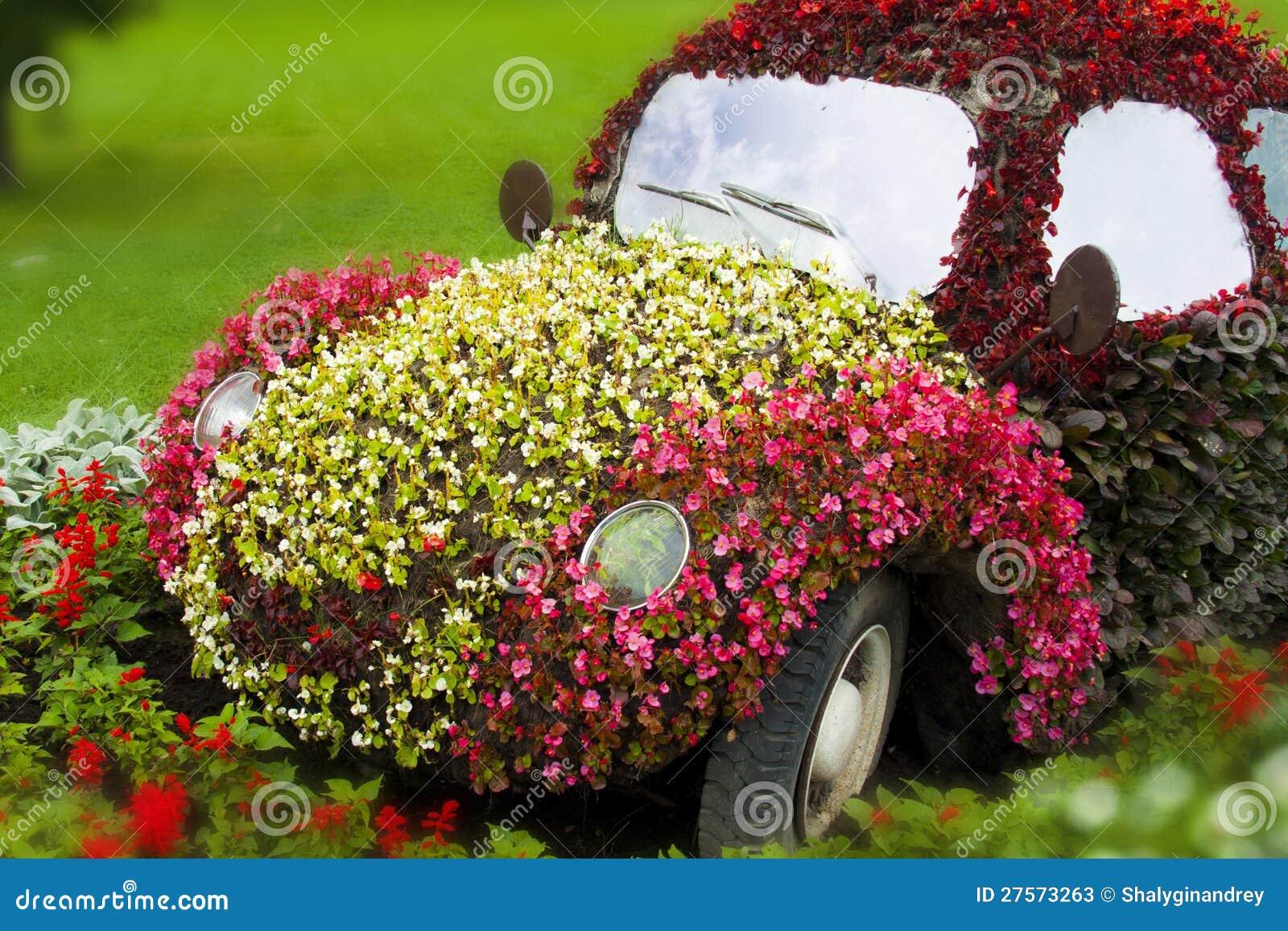 Цветы и автомобиль