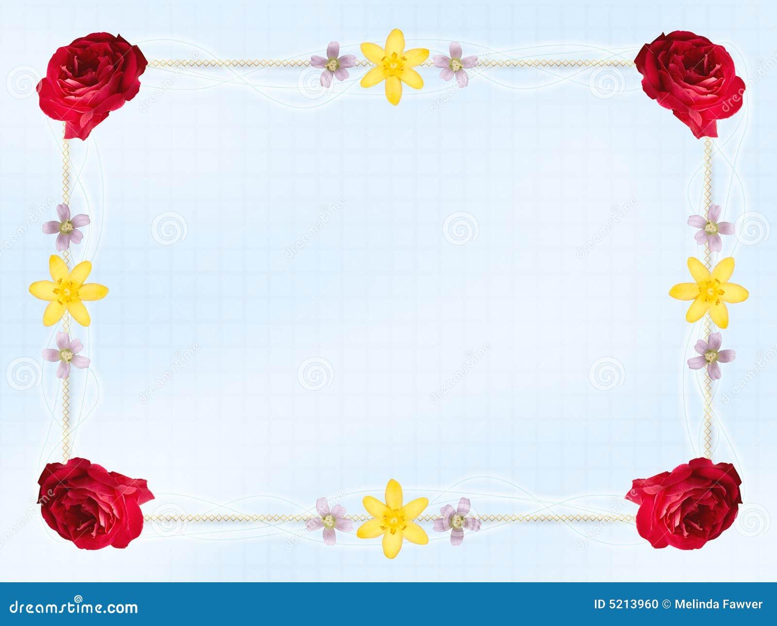 flower card border stock photo