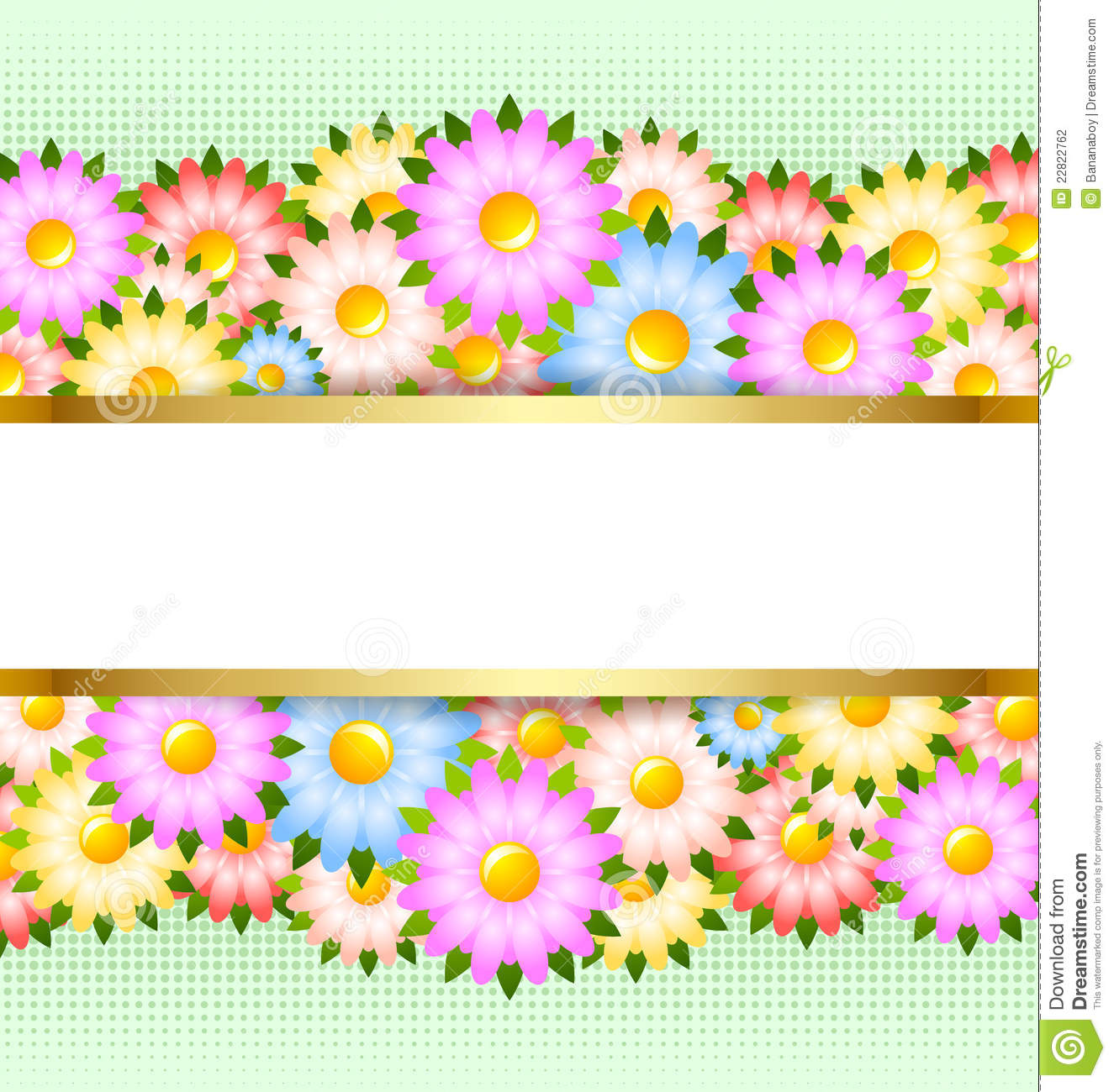 Flower Card Template Stock Photography