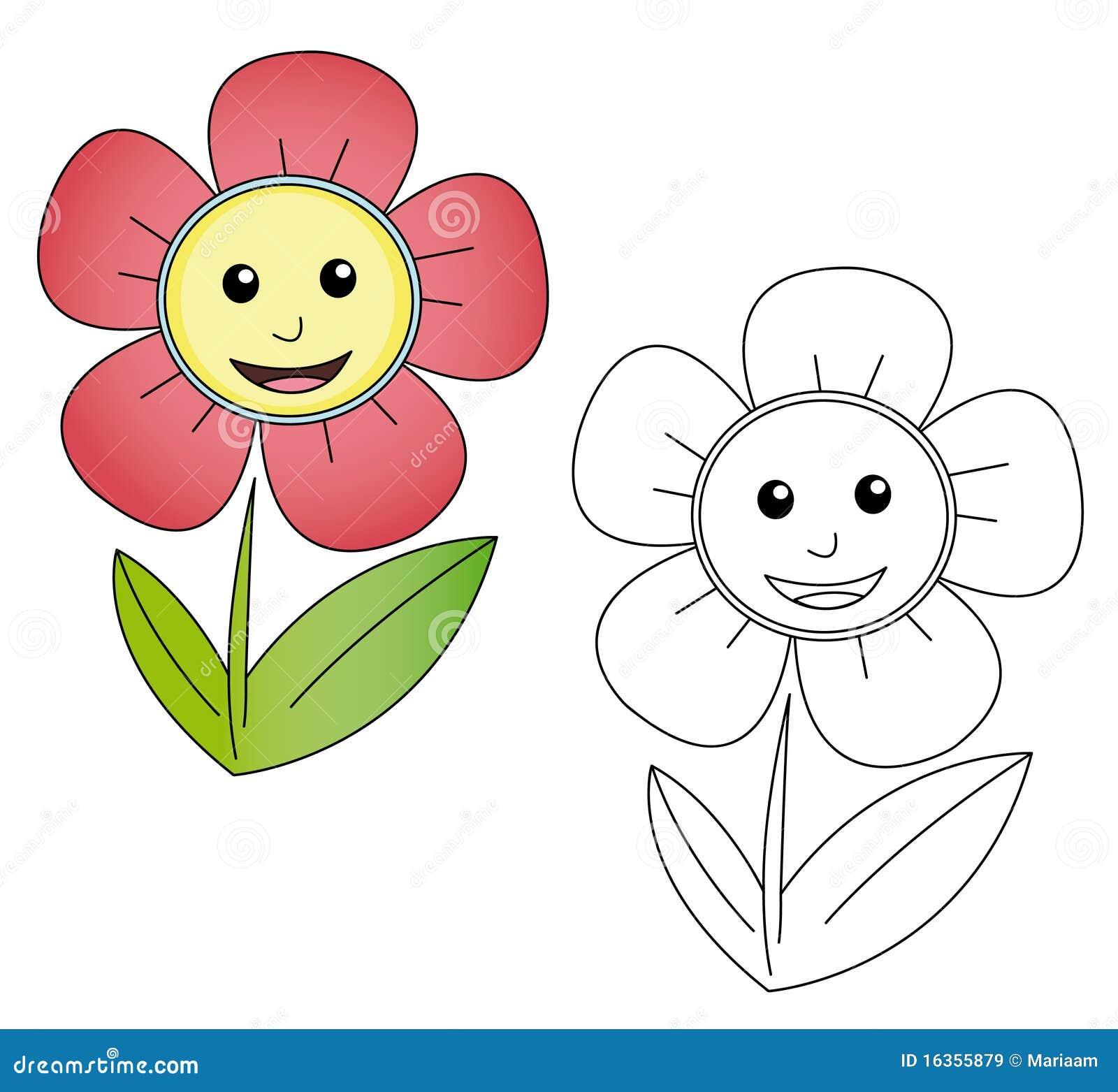 Flower Cartoon Royalty Free Stock Image