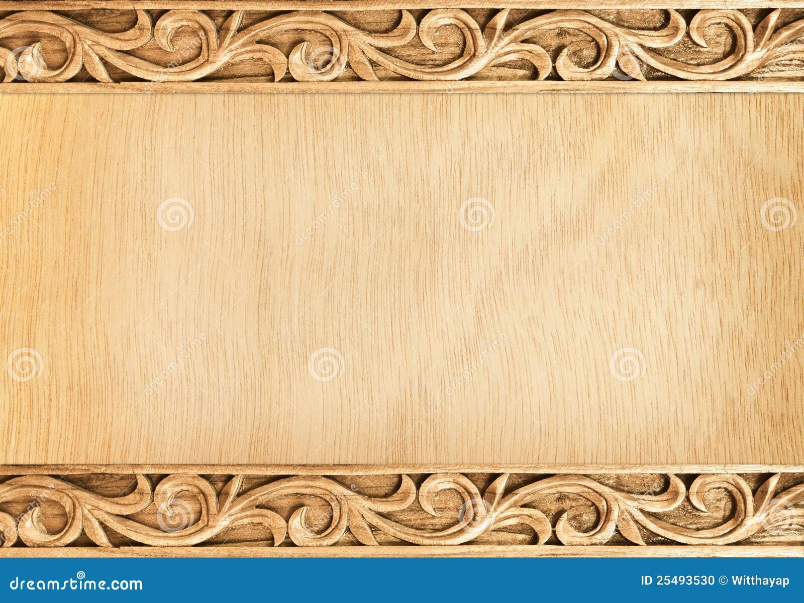 Flower Carved Frame Stock Photo Image Of Natural Image