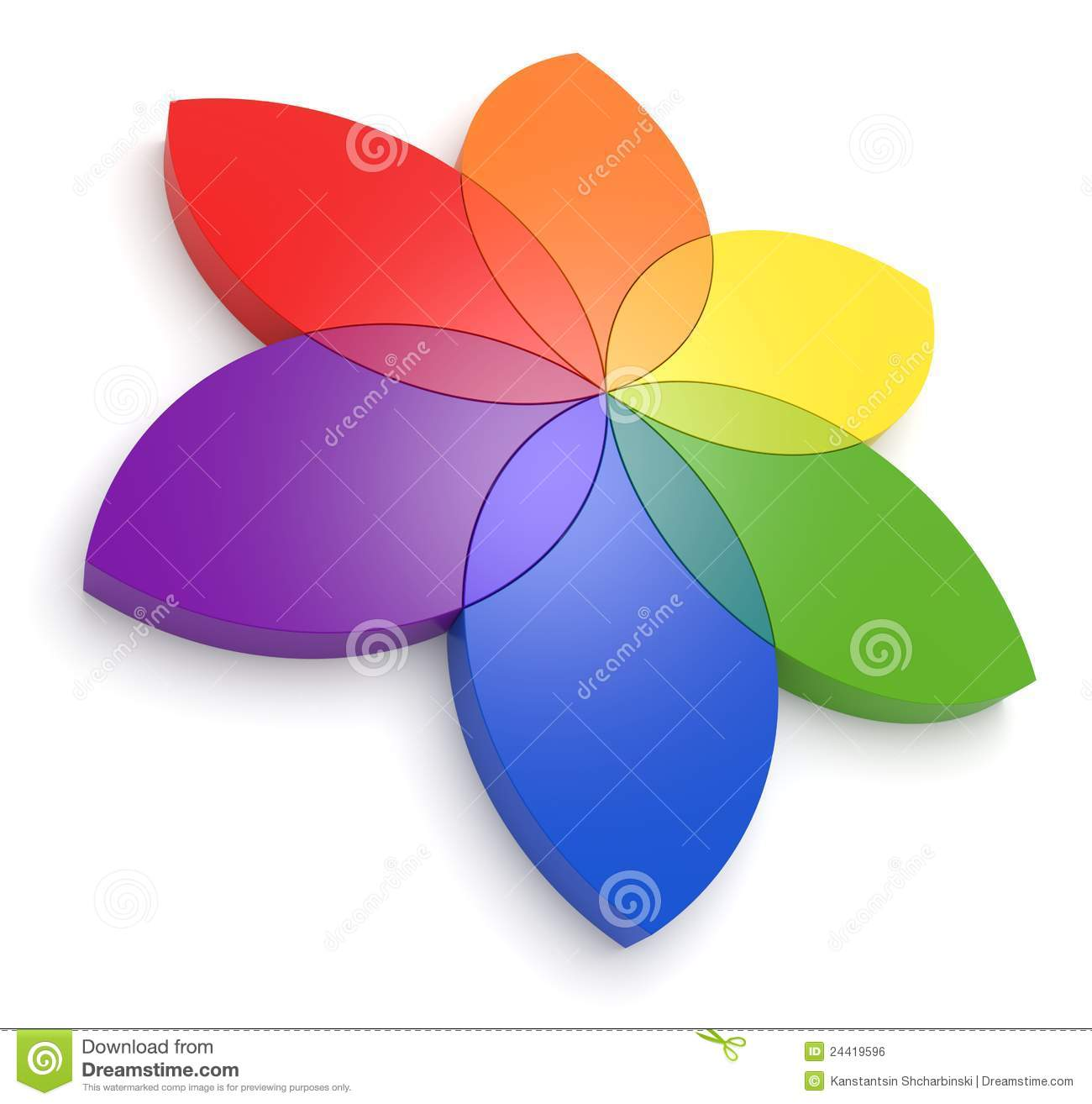Flower Color Wheel 3D Royalty Free Stock Image