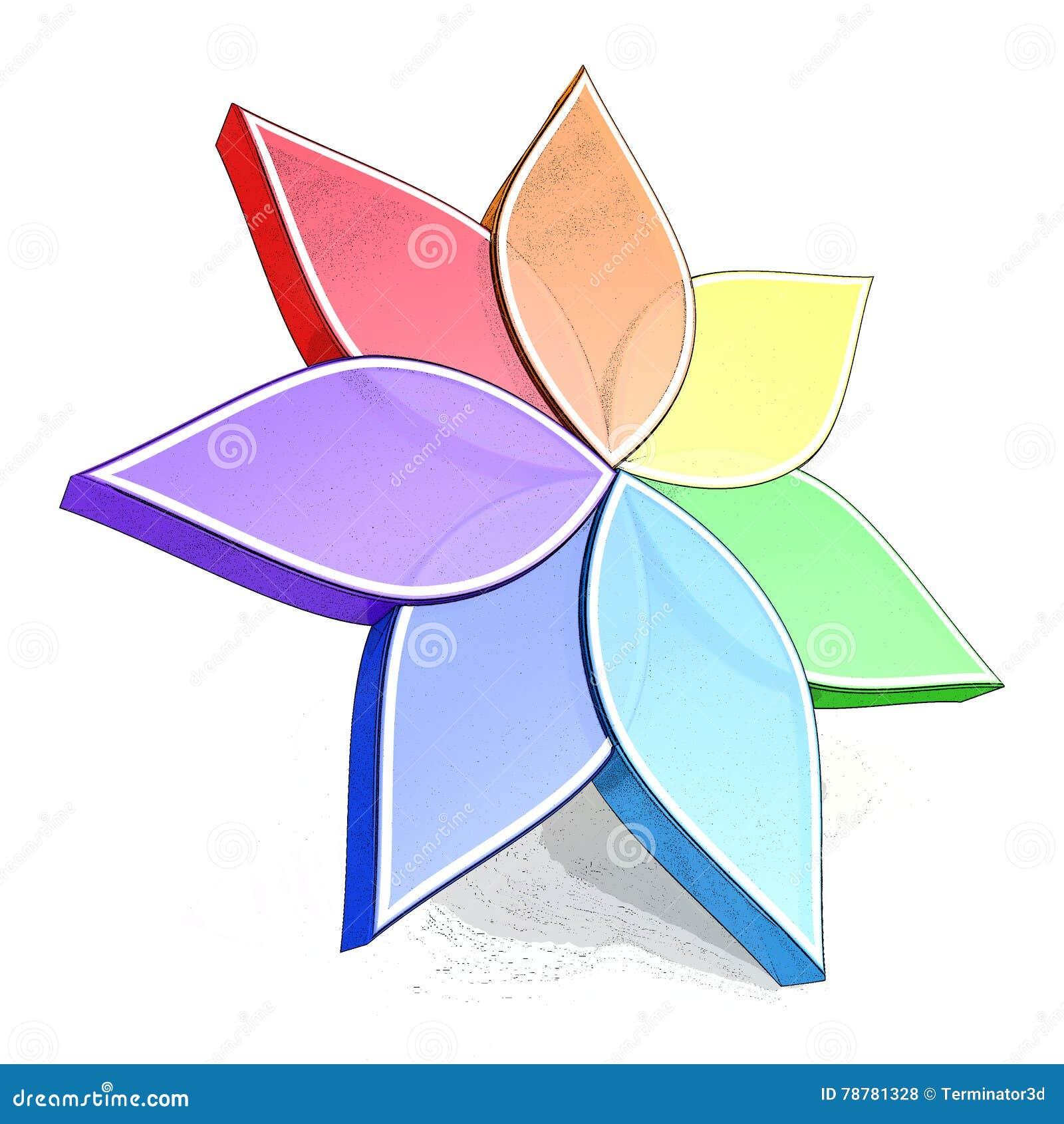 Flower Color Wheel 3d Stock Illustration Illustration Of Geometry