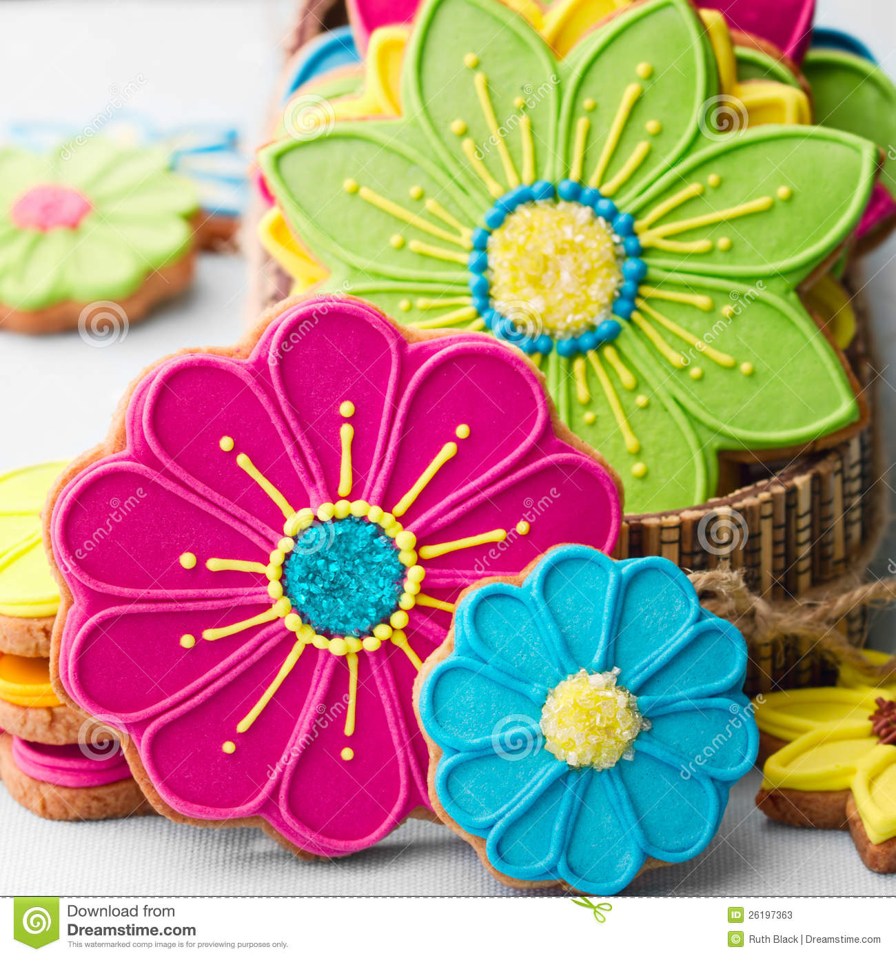 Flower Cookies Stock Photos - Image: 26197363
