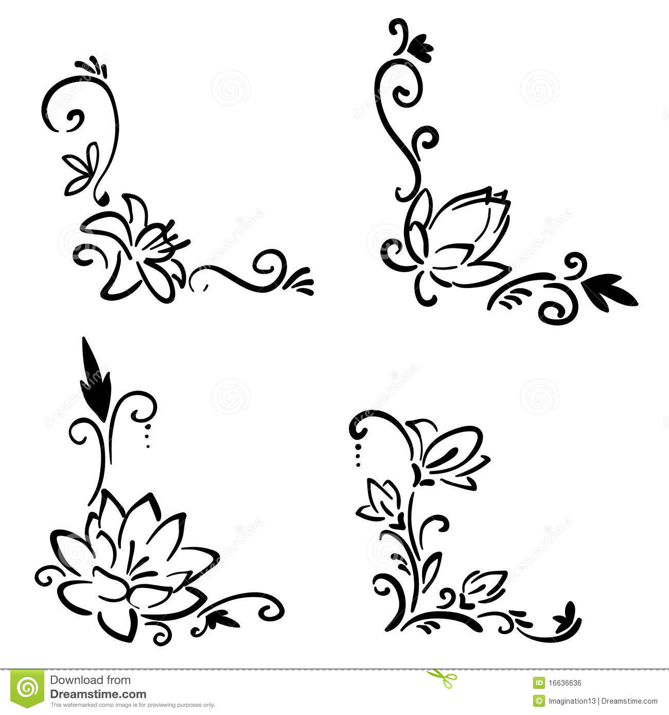flower corner stock vector illustration of abstract 16636636 dreamstime com
