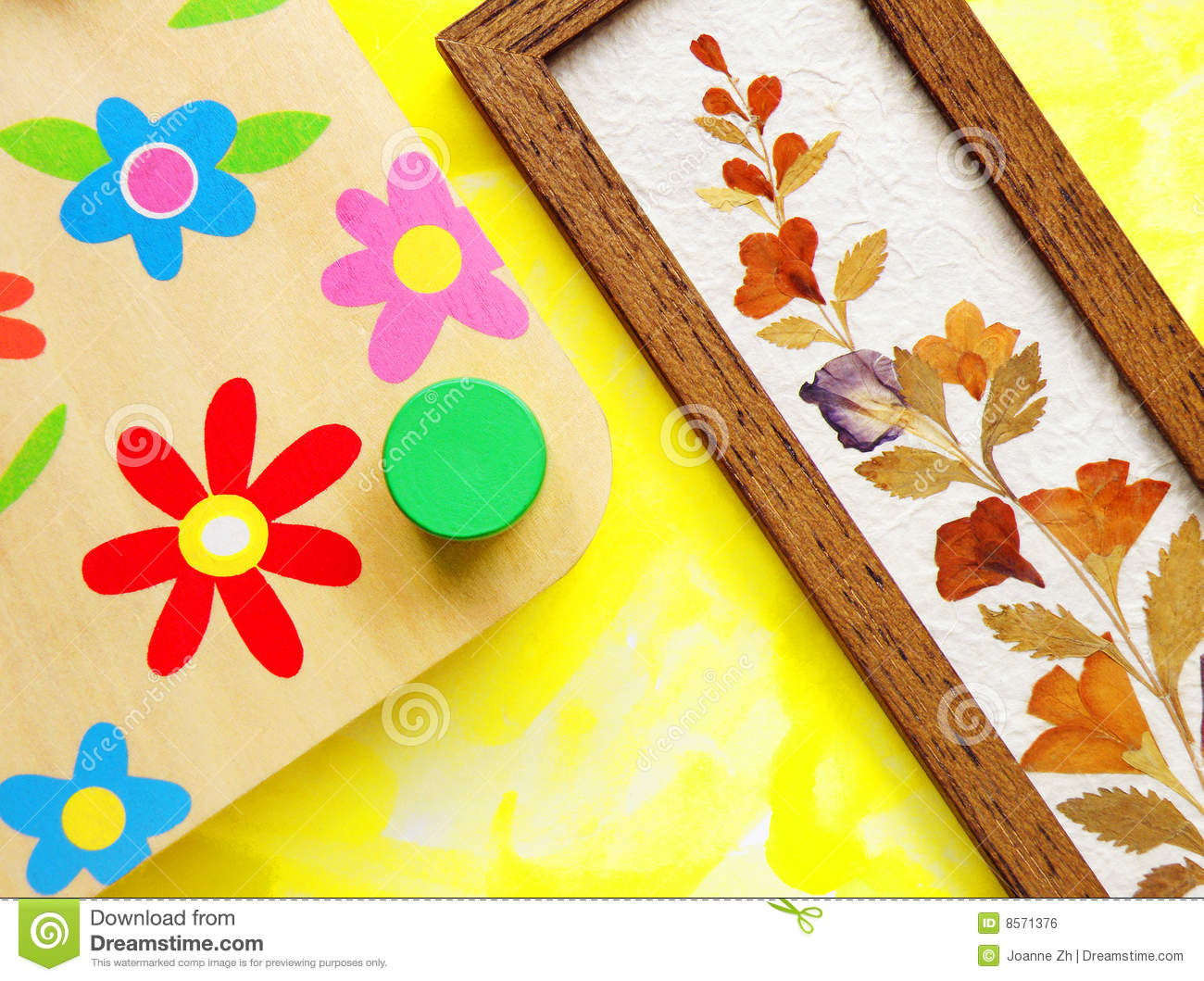 Flower crafts hobby stock photo image of equipments for Crafts and hobbies ideas