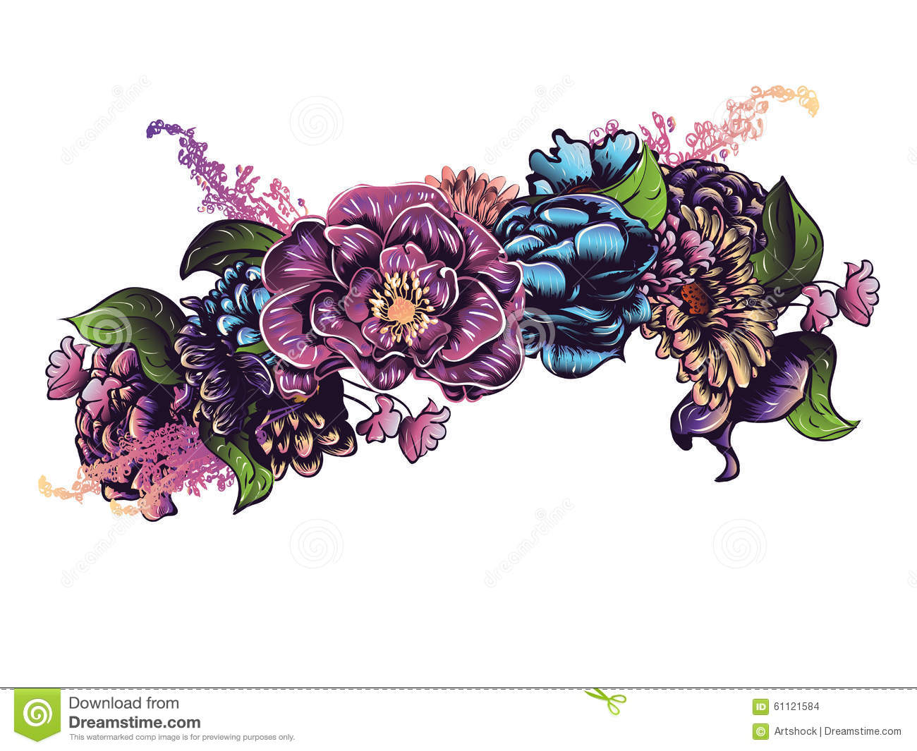 Flower Crown Stock Vector Illustration Of Flower Happiness 61121584