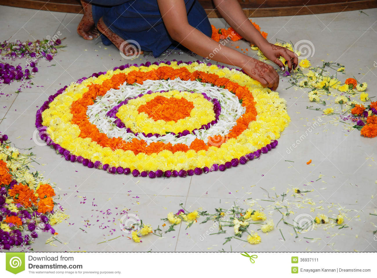 Flower decoration stock image image of decoration hands for Floor decoration
