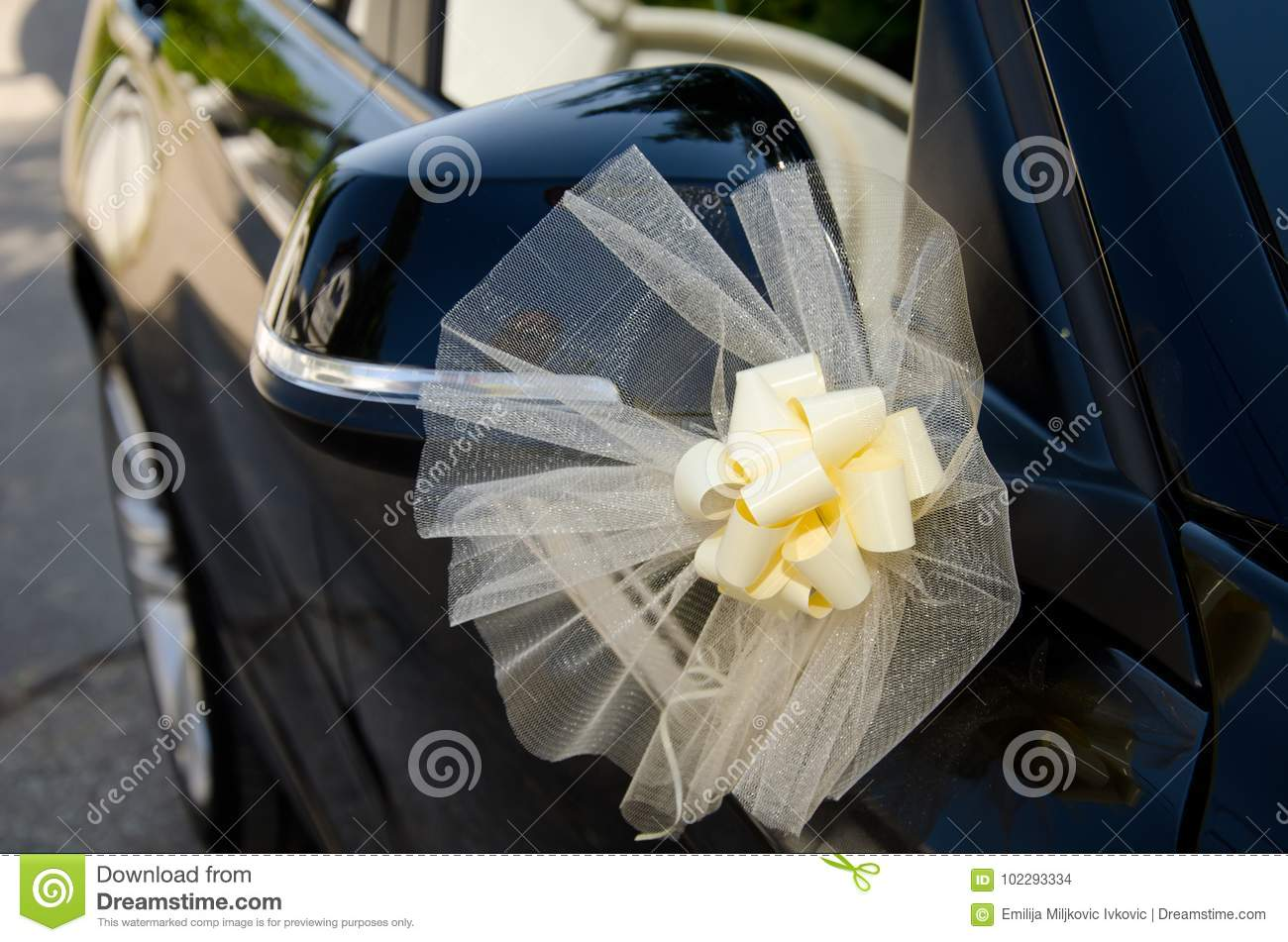 Flowers As Decoration On Car Stock Photo Image Of Flowers