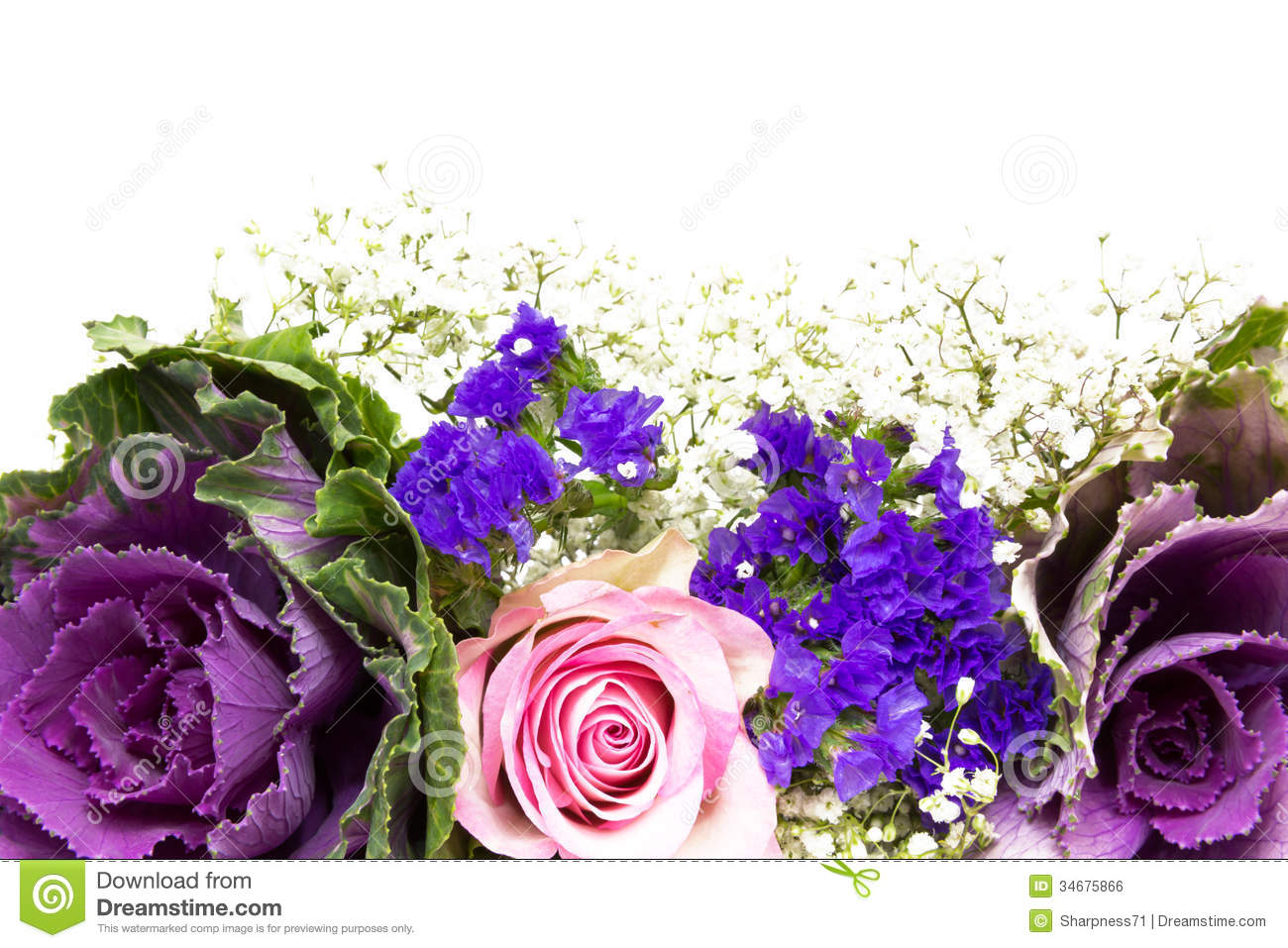 Flower Decoration Pink Blue 1 Royalty Free Stock Image
