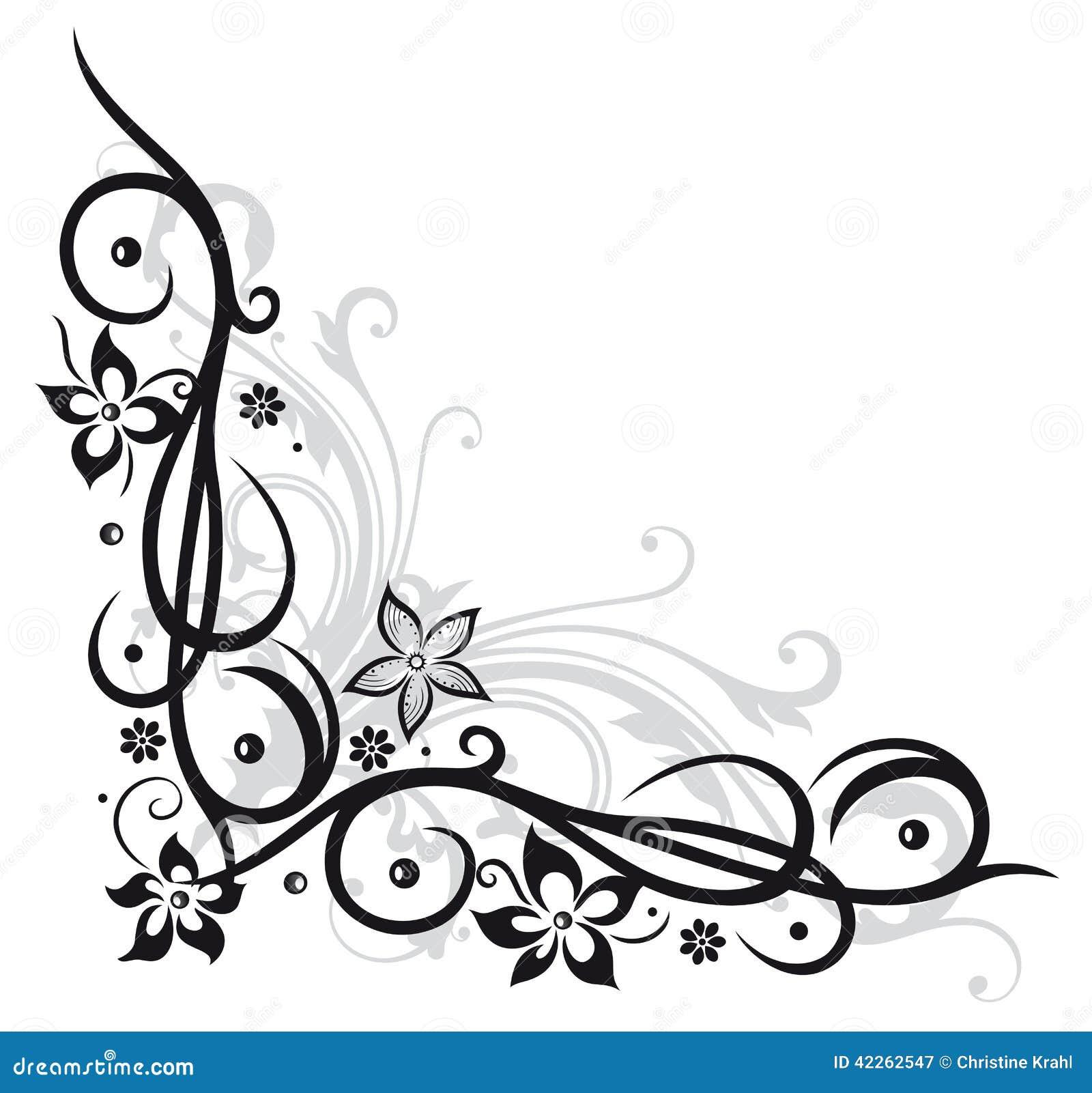 flower decoration stock vector image 42262547. Black Bedroom Furniture Sets. Home Design Ideas