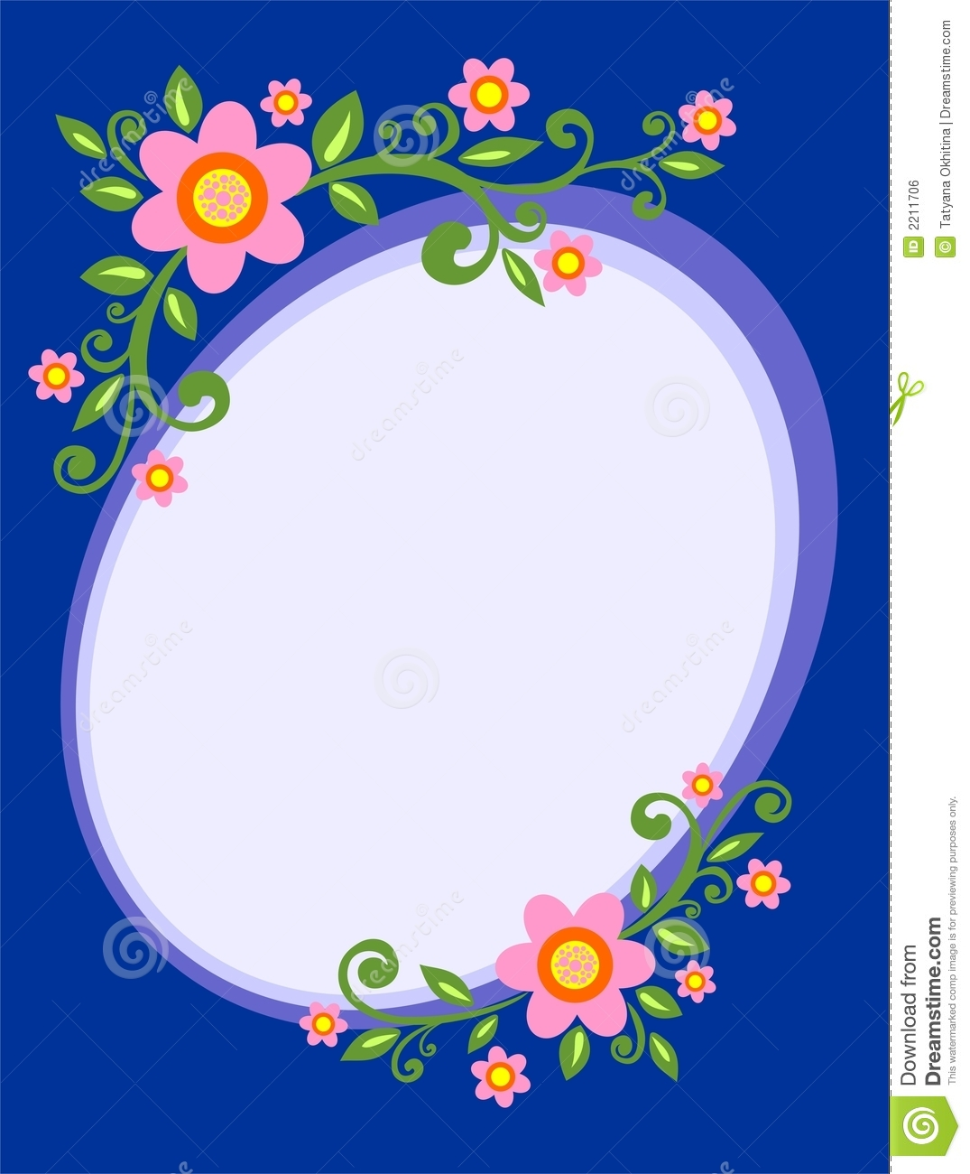 Flower decorative frame stock vector. Illustration of silhouette ...