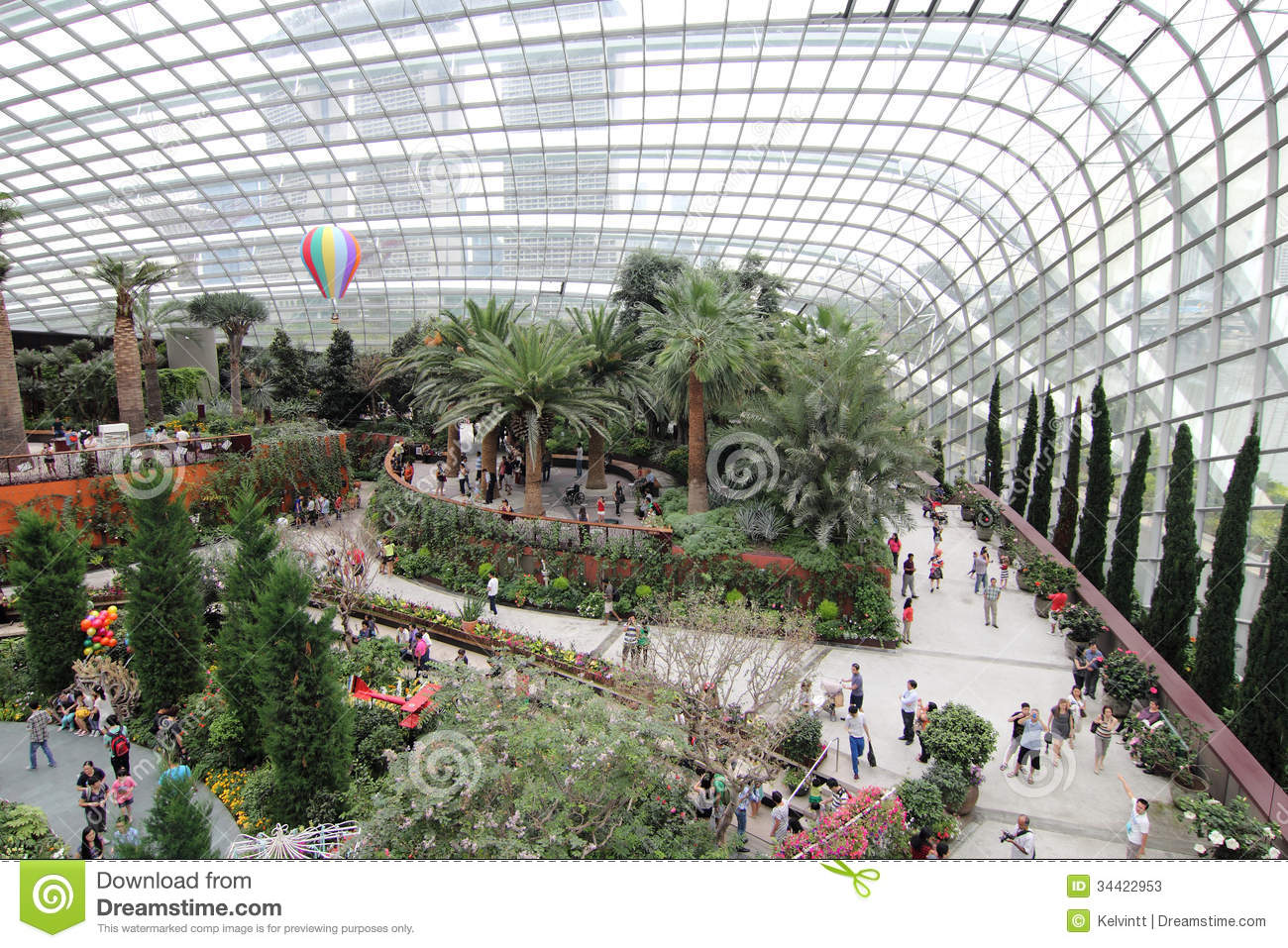 Flower dome gardens by the bay 3 editorial stock photo image 34422953 - Garden by the bay flower show ...
