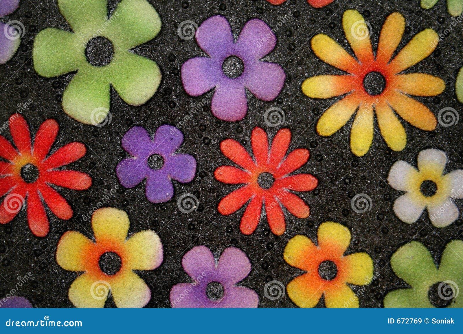 Flower Door Mat Stock Image Image Of Doorway Texture