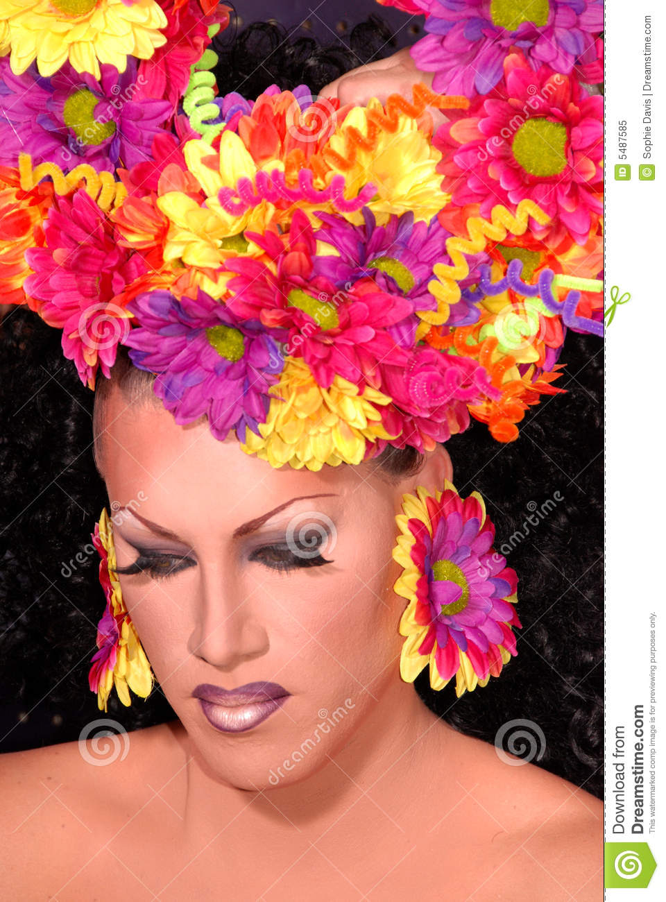 flower drag queen royalty free stock photo image 5487585