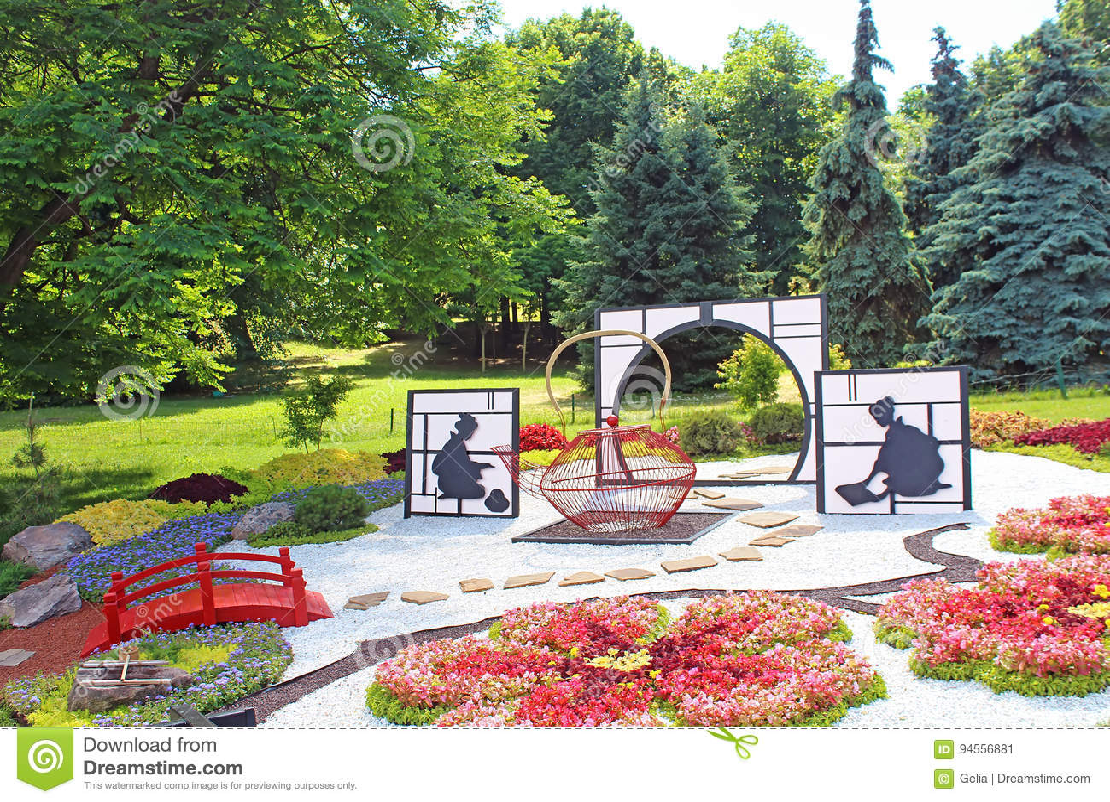Flower exhibition `Japan through the eyes of Ukraine` at Spivoche Pole in Kyiv, Ukraine